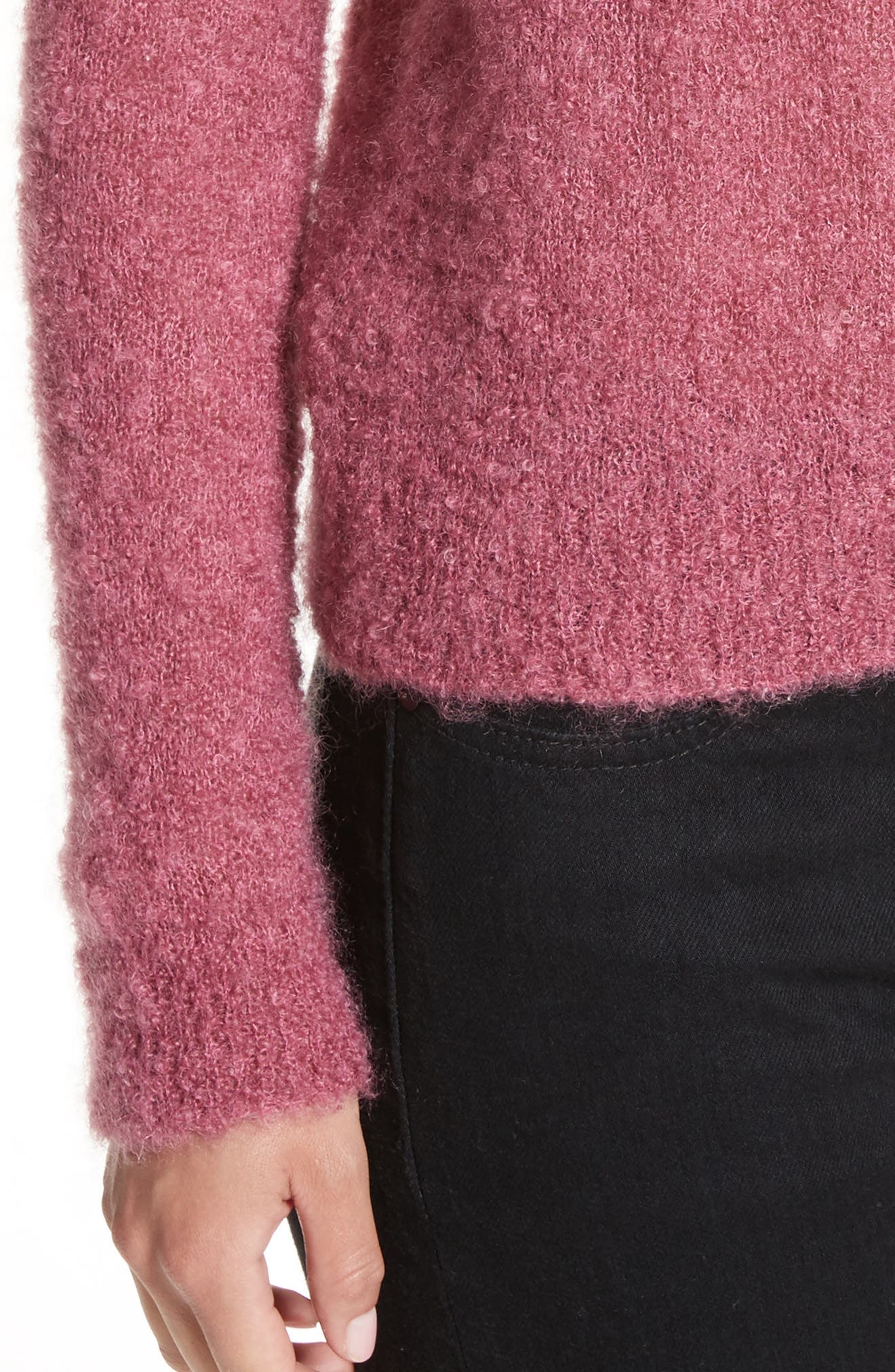 Tatum Mohair & Silk Sweater,                             Alternate thumbnail 4, color,                             Ruby Pink