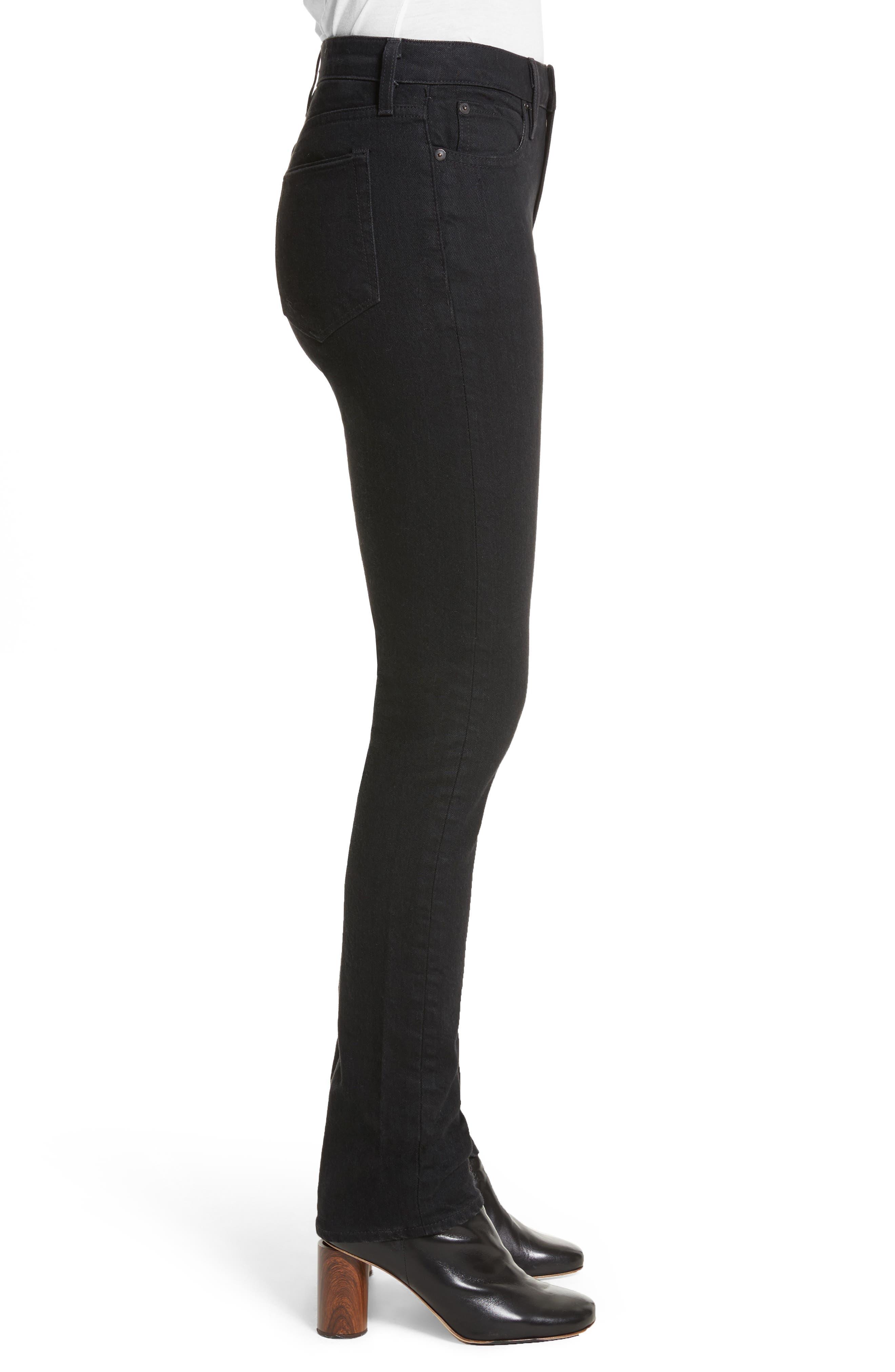 Boyd High Rise Jeans,                             Alternate thumbnail 3, color,                             Black