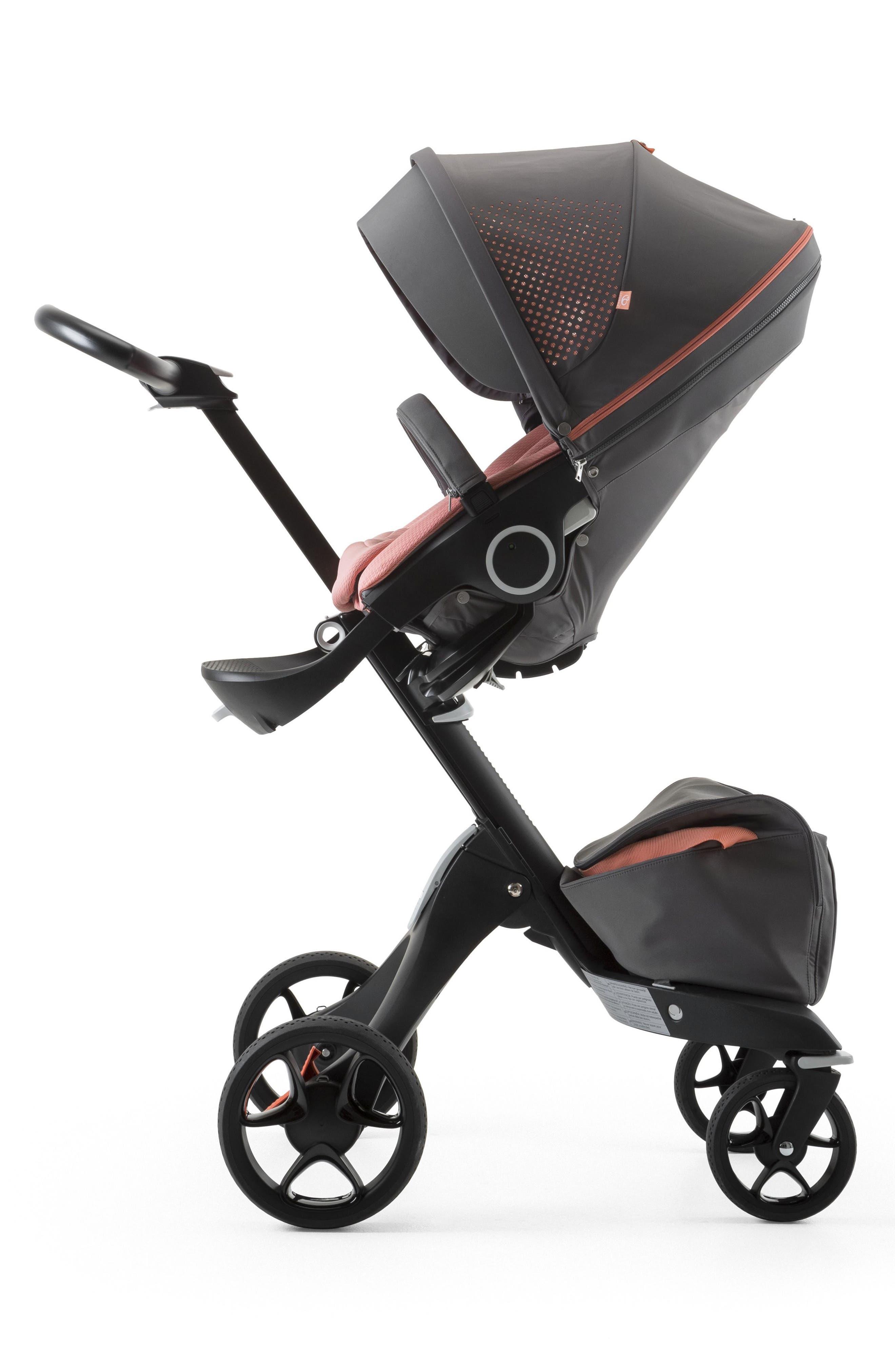 Xplory<sup>®</sup> V5 Black Athleisure Stroller,                         Main,                         color, Coral