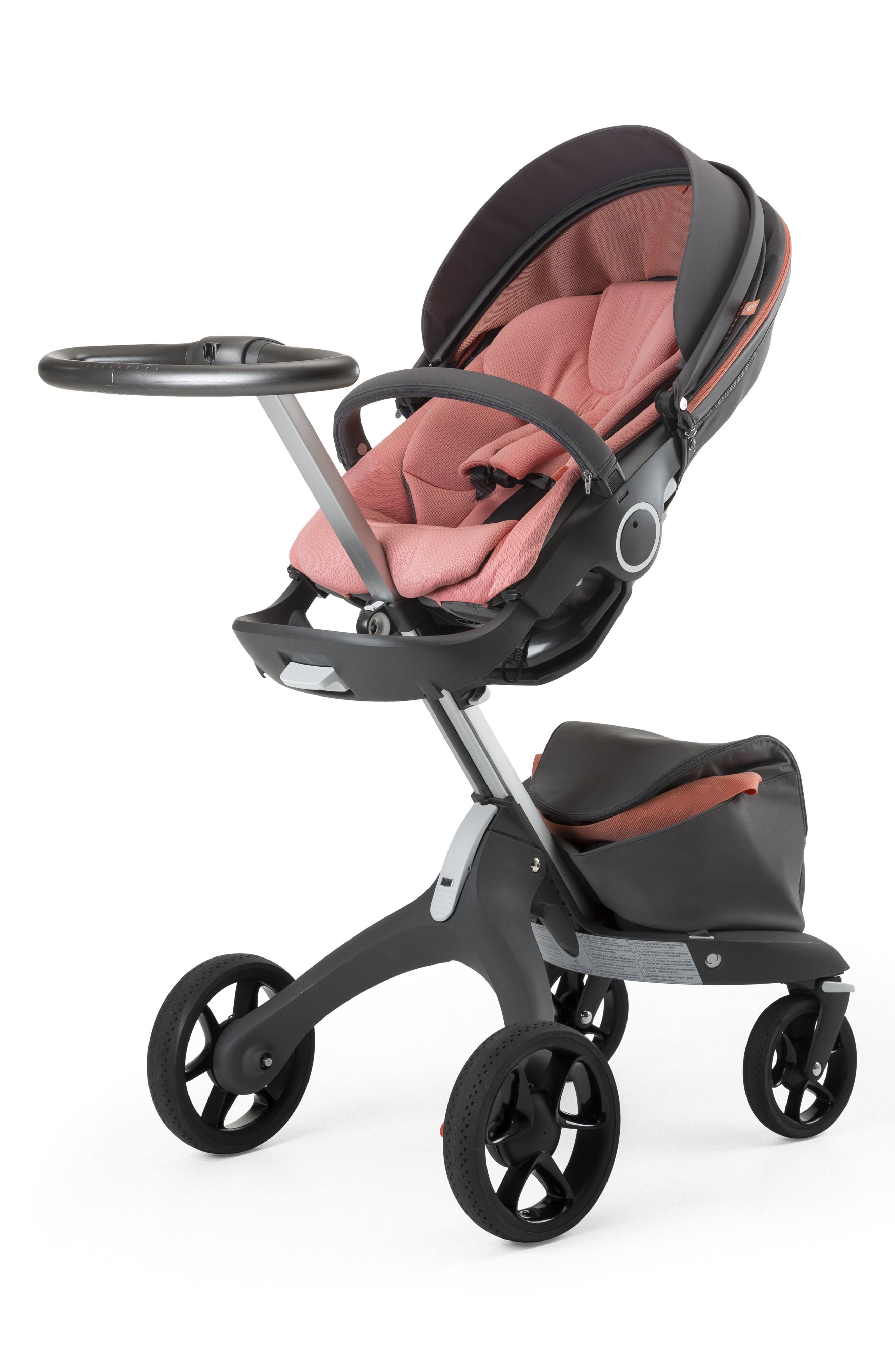 Xplory<sup>®</sup> V5 Coral Athleisure Stroller,                             Alternate thumbnail 3, color,                             Coral