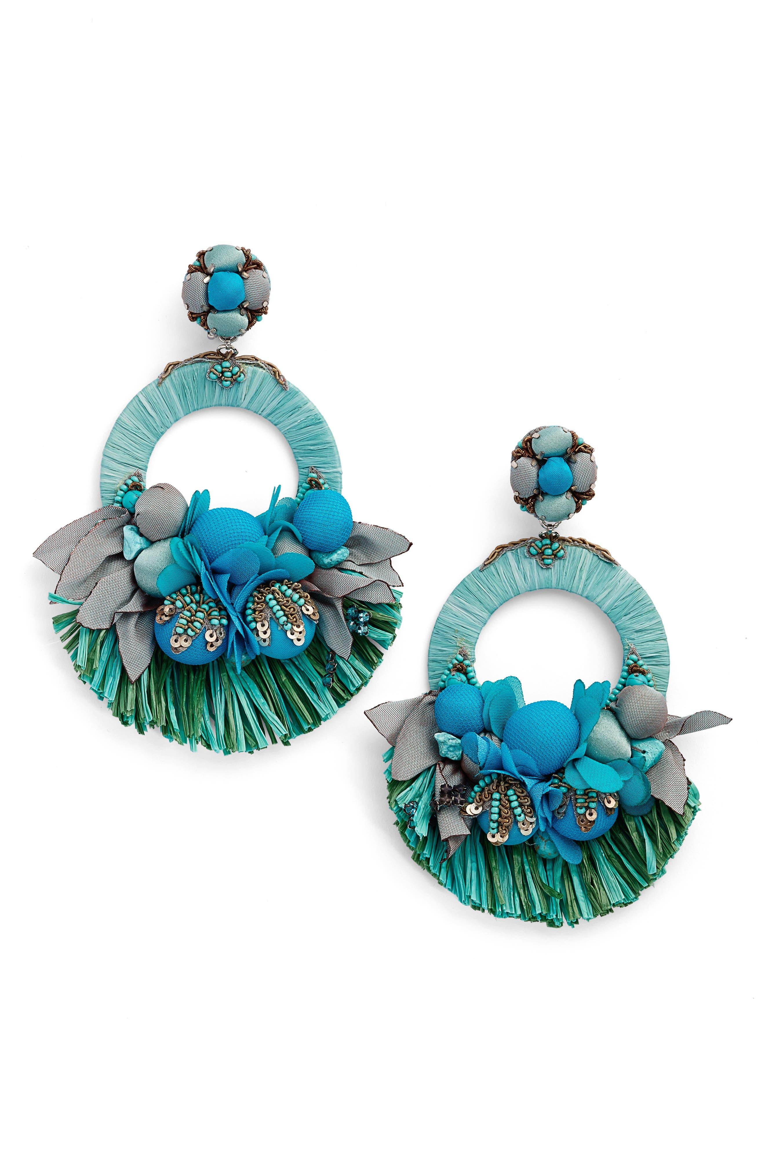 Waverly Drop Earrings,                             Main thumbnail 1, color,                             Blue / Green