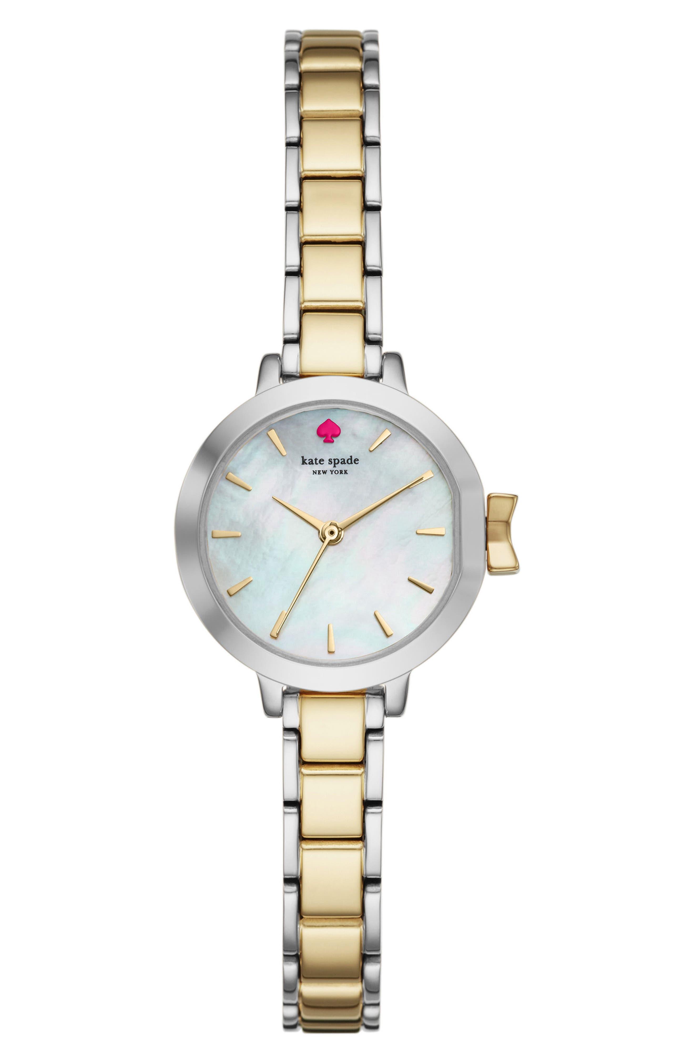 park row bracelet watch, 24mm,                         Main,                         color, Gold/ Mop/ Silver