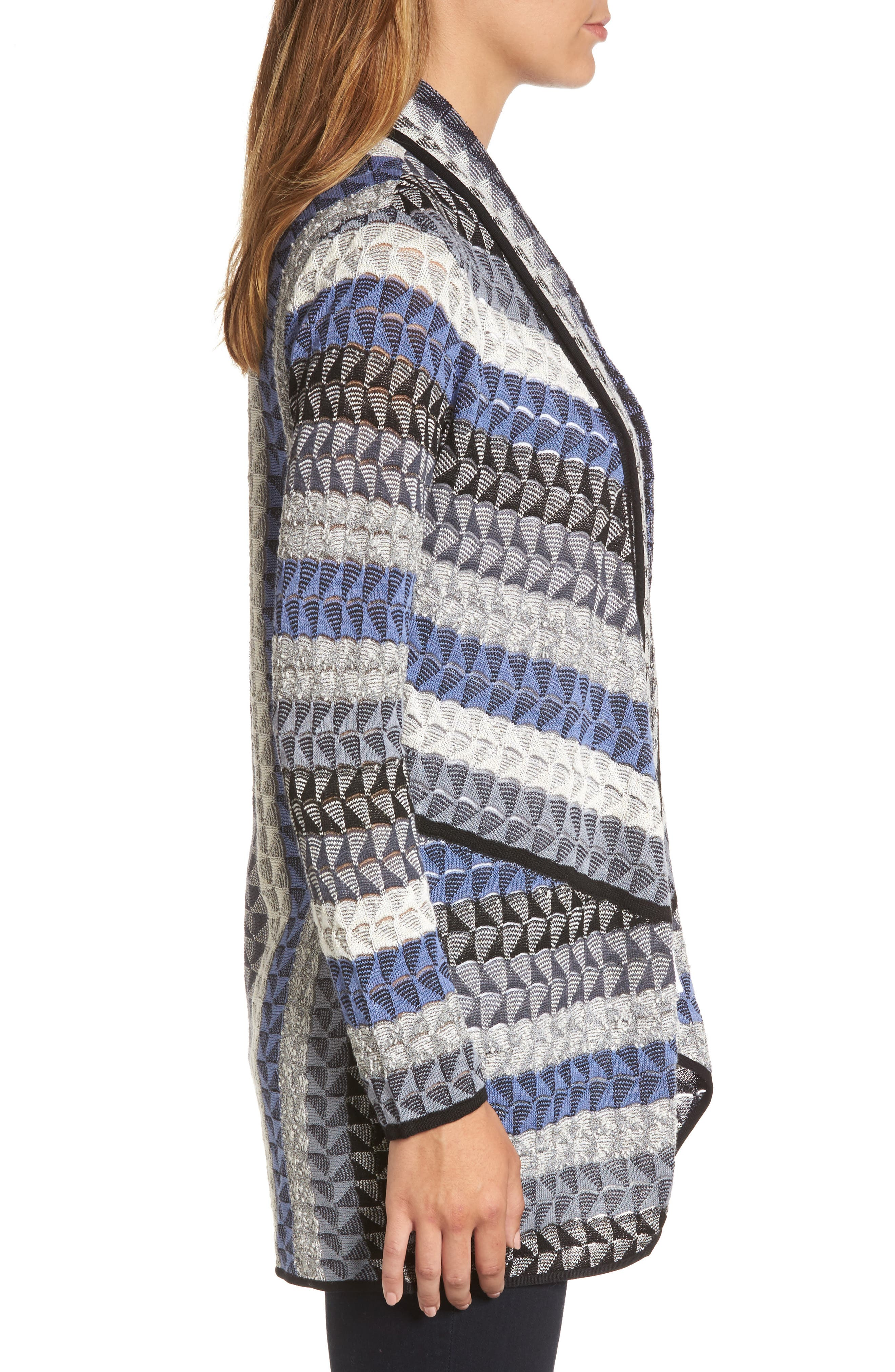 Triangle Bliss Cardigan,                             Alternate thumbnail 3, color,                             Multi
