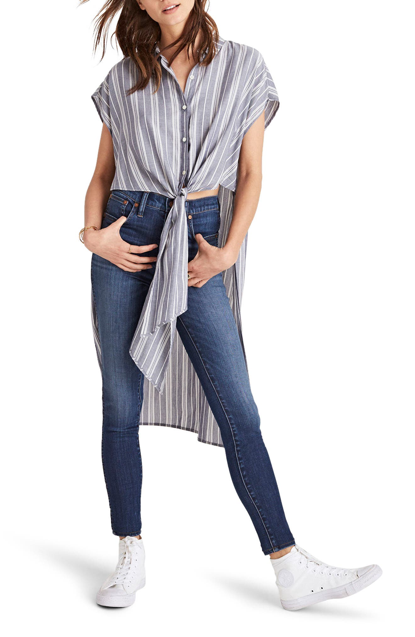 Side Slit Tunic Shirt,                         Main,                         color, Favorite Moonless Night
