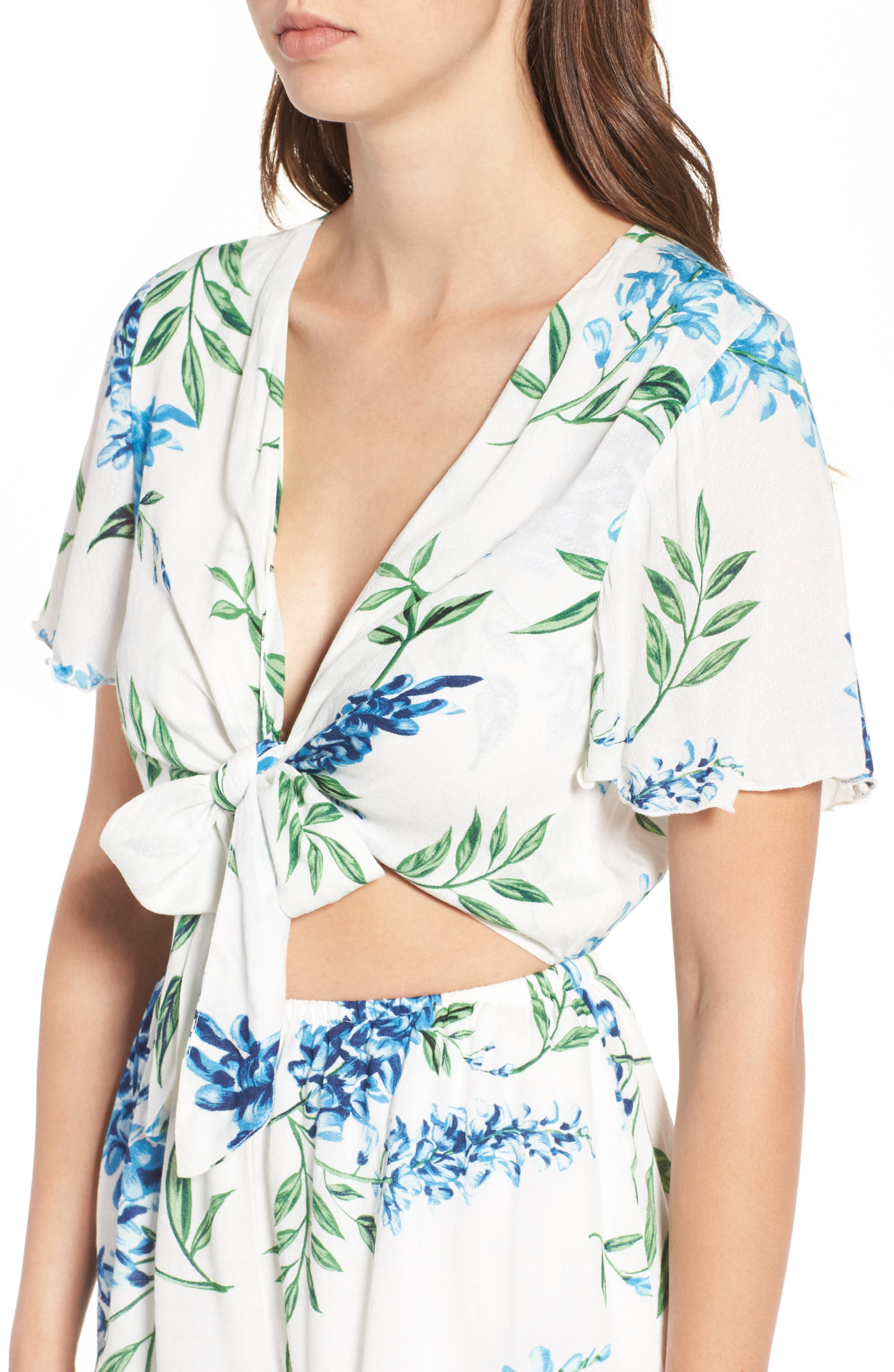Alternate Image 4  - Show Me Your Mumu Gia Tie Waist Romper