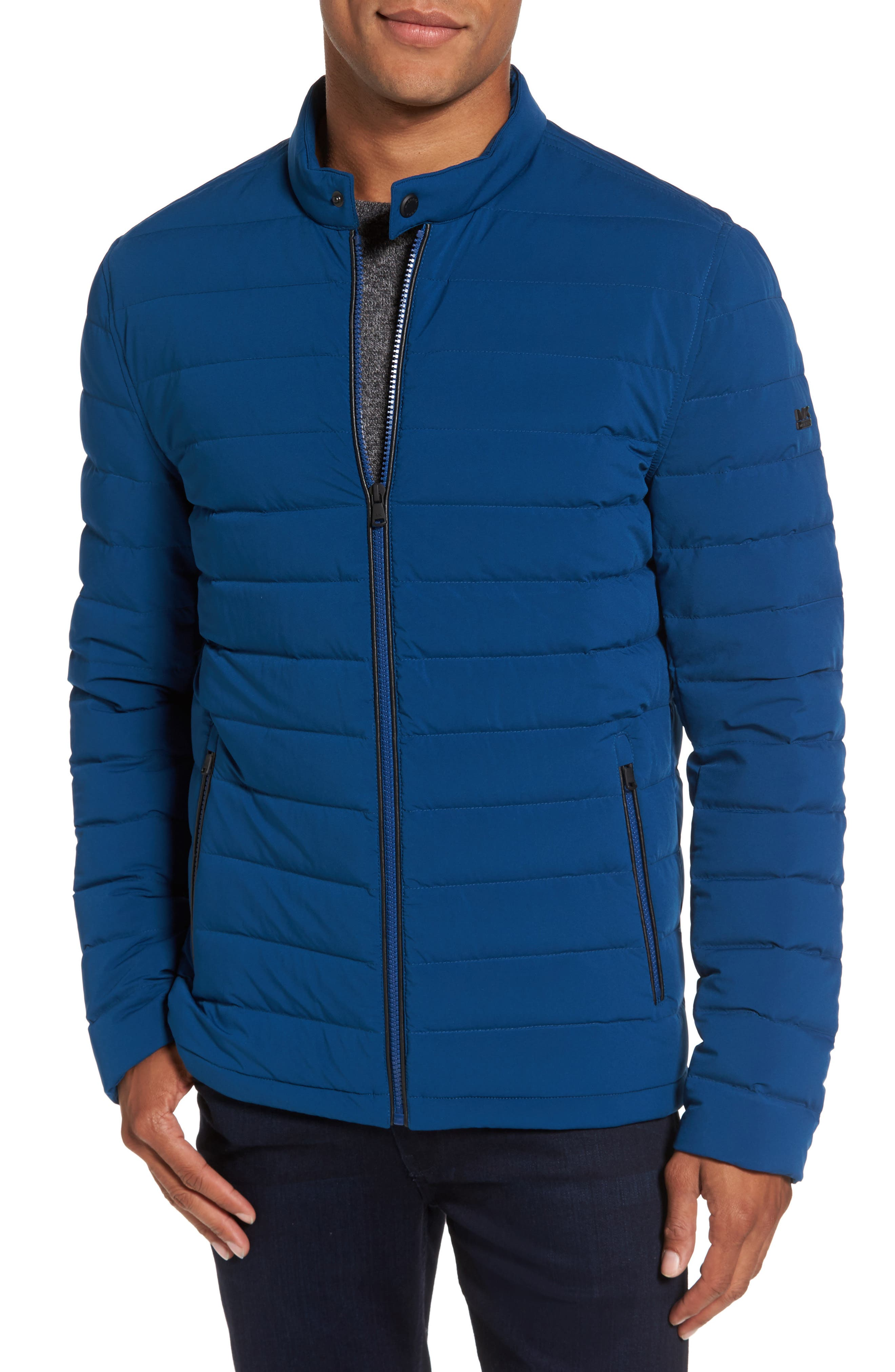 Packable Stretch Down Jacket,                             Main thumbnail 1, color,                             Pacific Blue