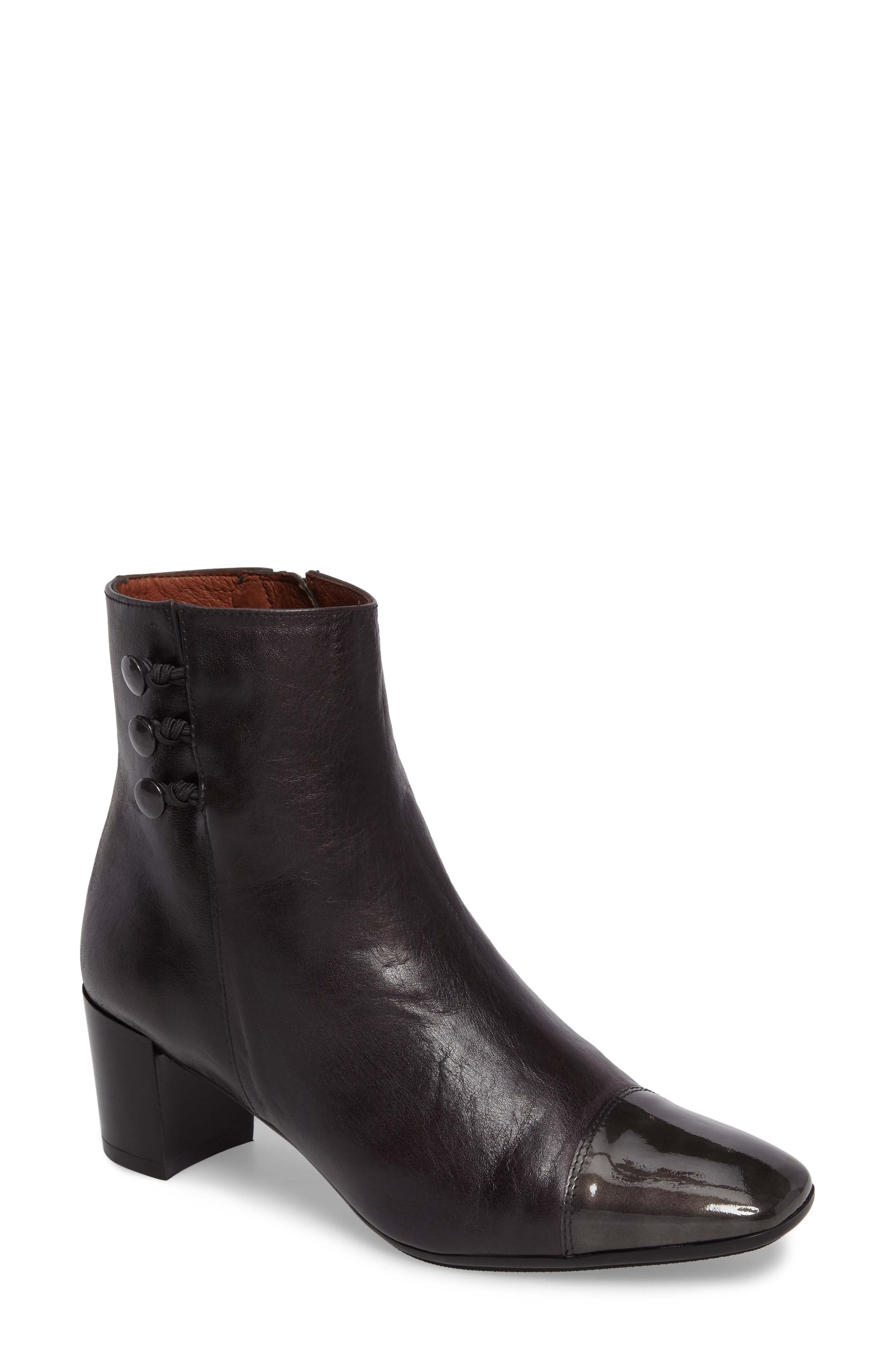 Kirby Bootie,                             Main thumbnail 1, color,                             Grafito Leather