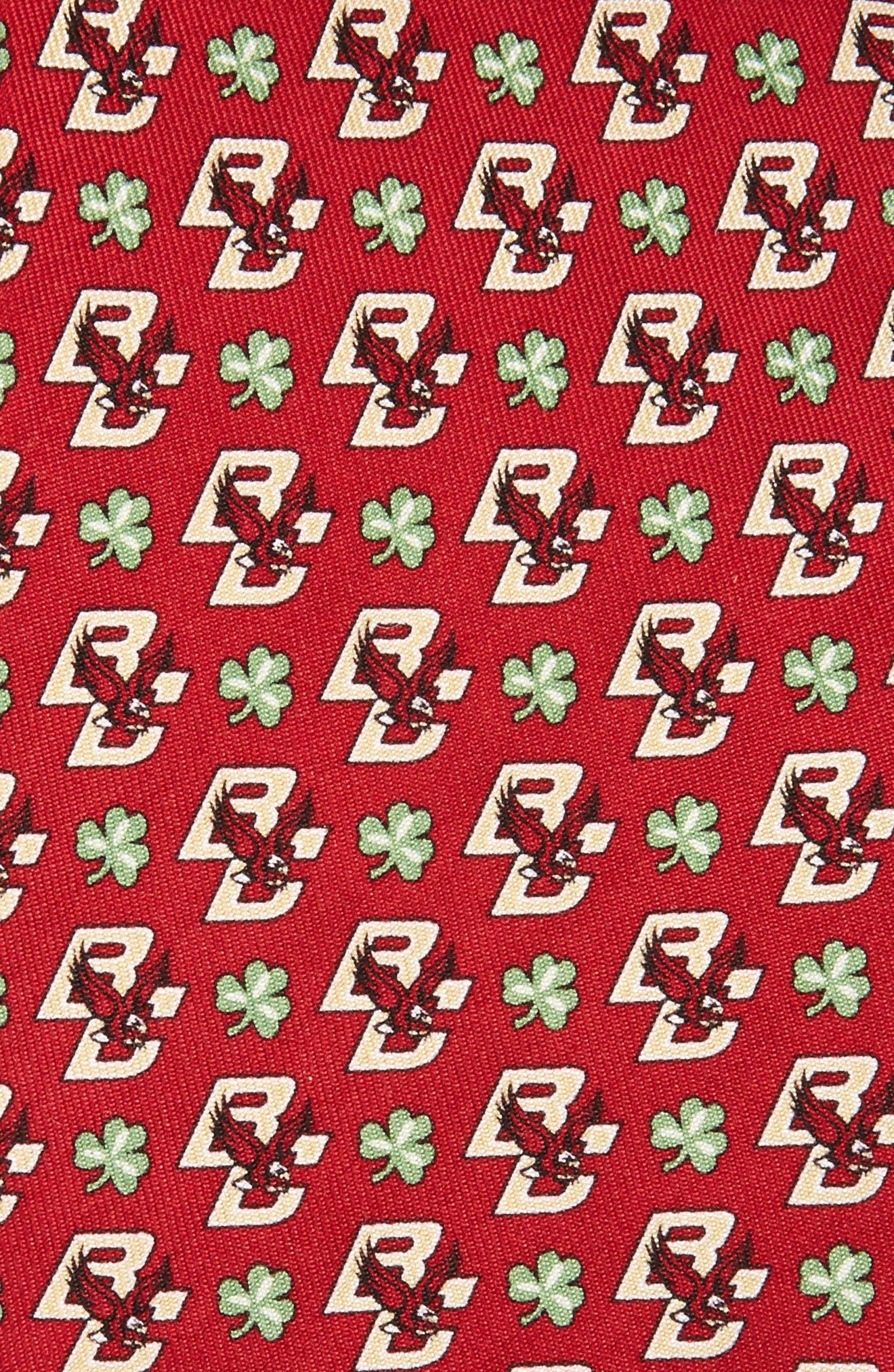 Boston College Eagles Silk Tie,                             Alternate thumbnail 2, color,                             College Maroon