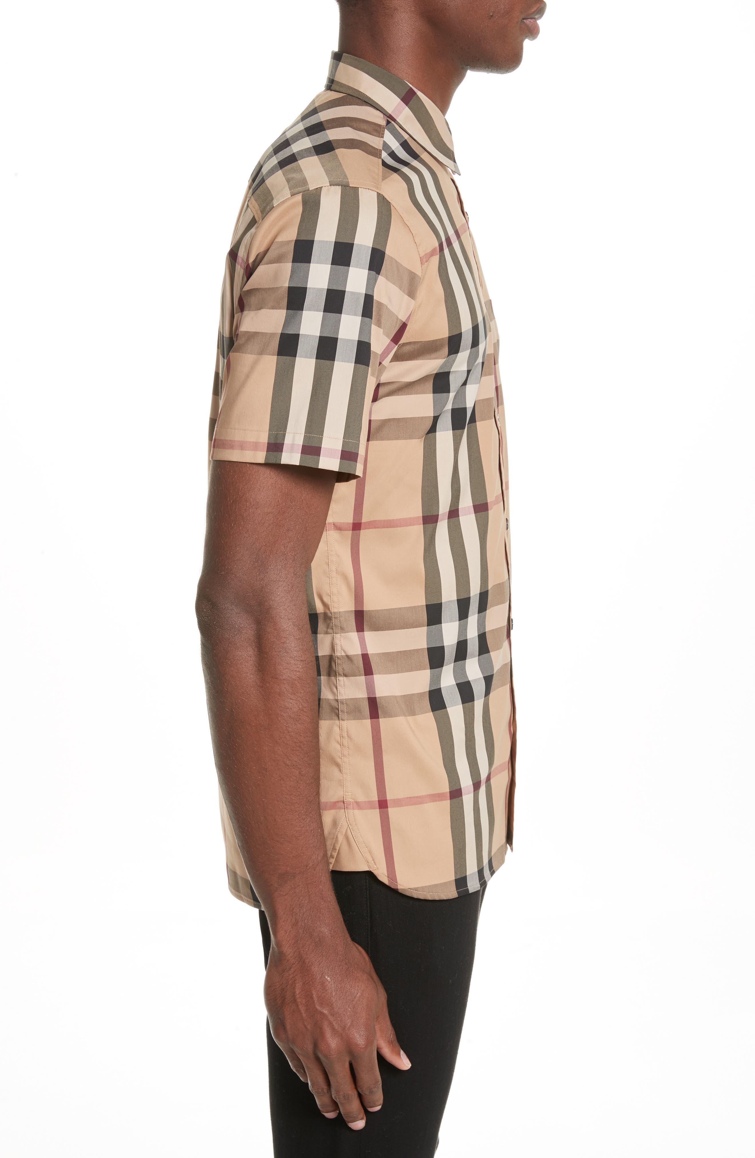 Alternate Image 3  - Burberry Brit 'Nelson' Trim Fit Short Sleeve Sport Shirt