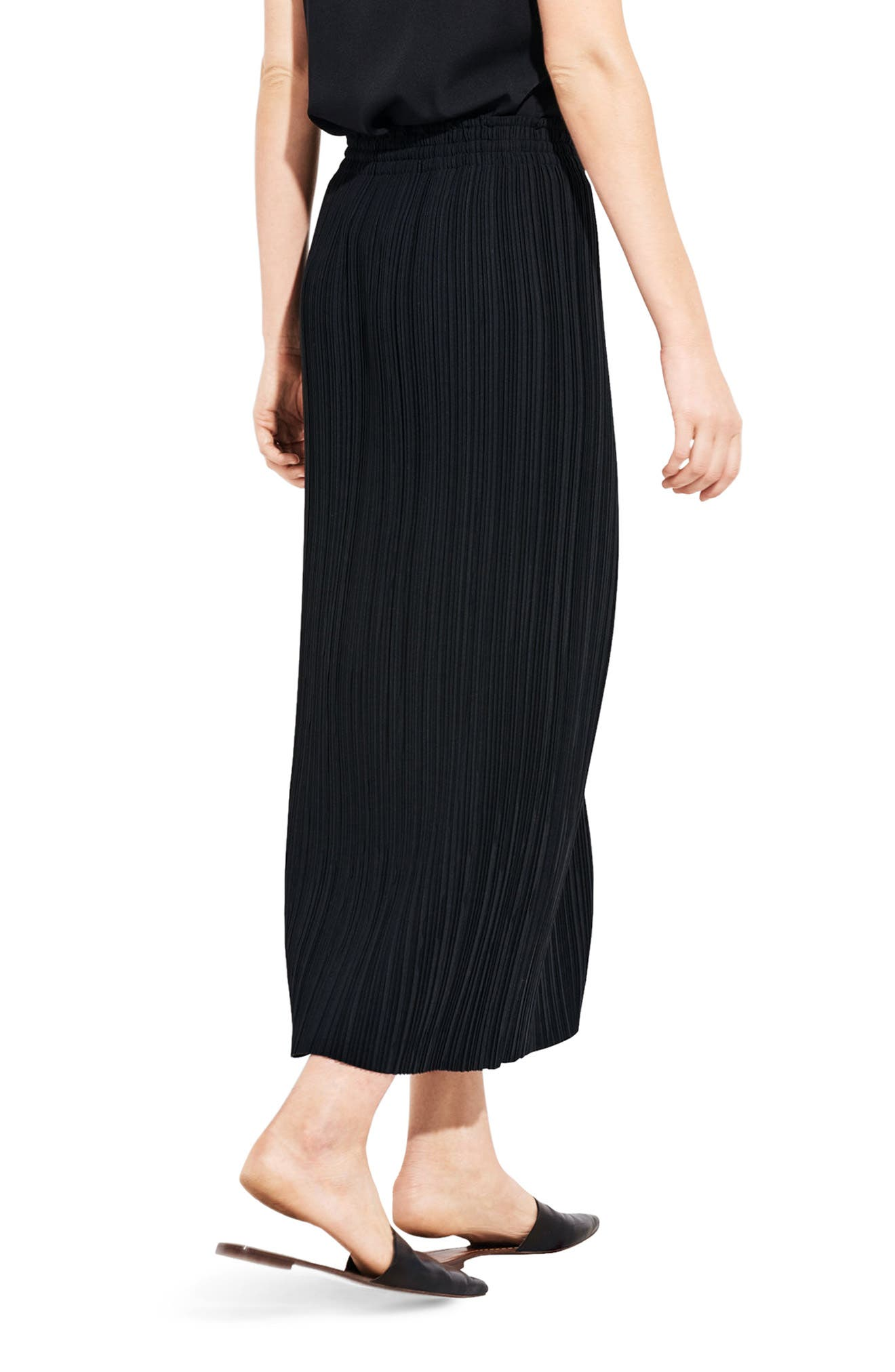 The Lit Midi Skirt,                             Alternate thumbnail 2, color,                             Black