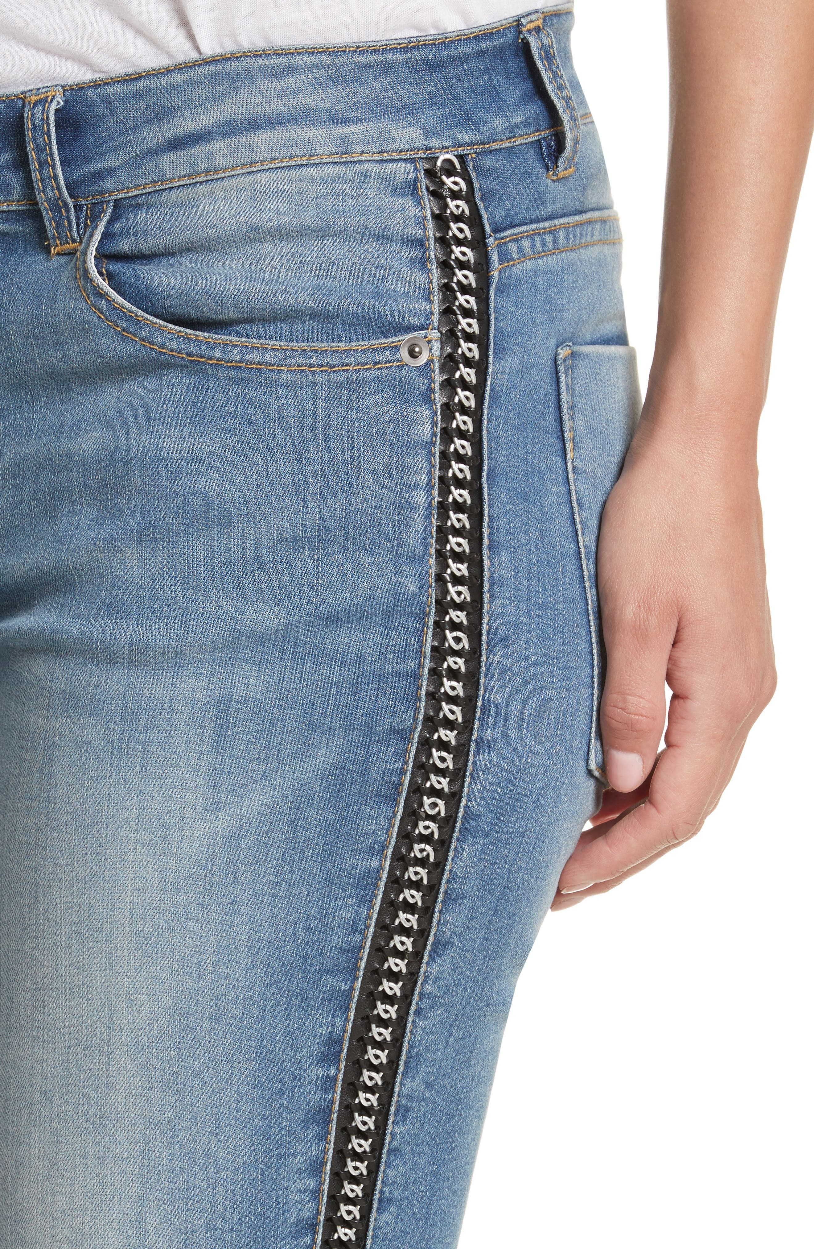 Alternate Image 5  - Alice + Olivia Jane Crop Skinny Jeans
