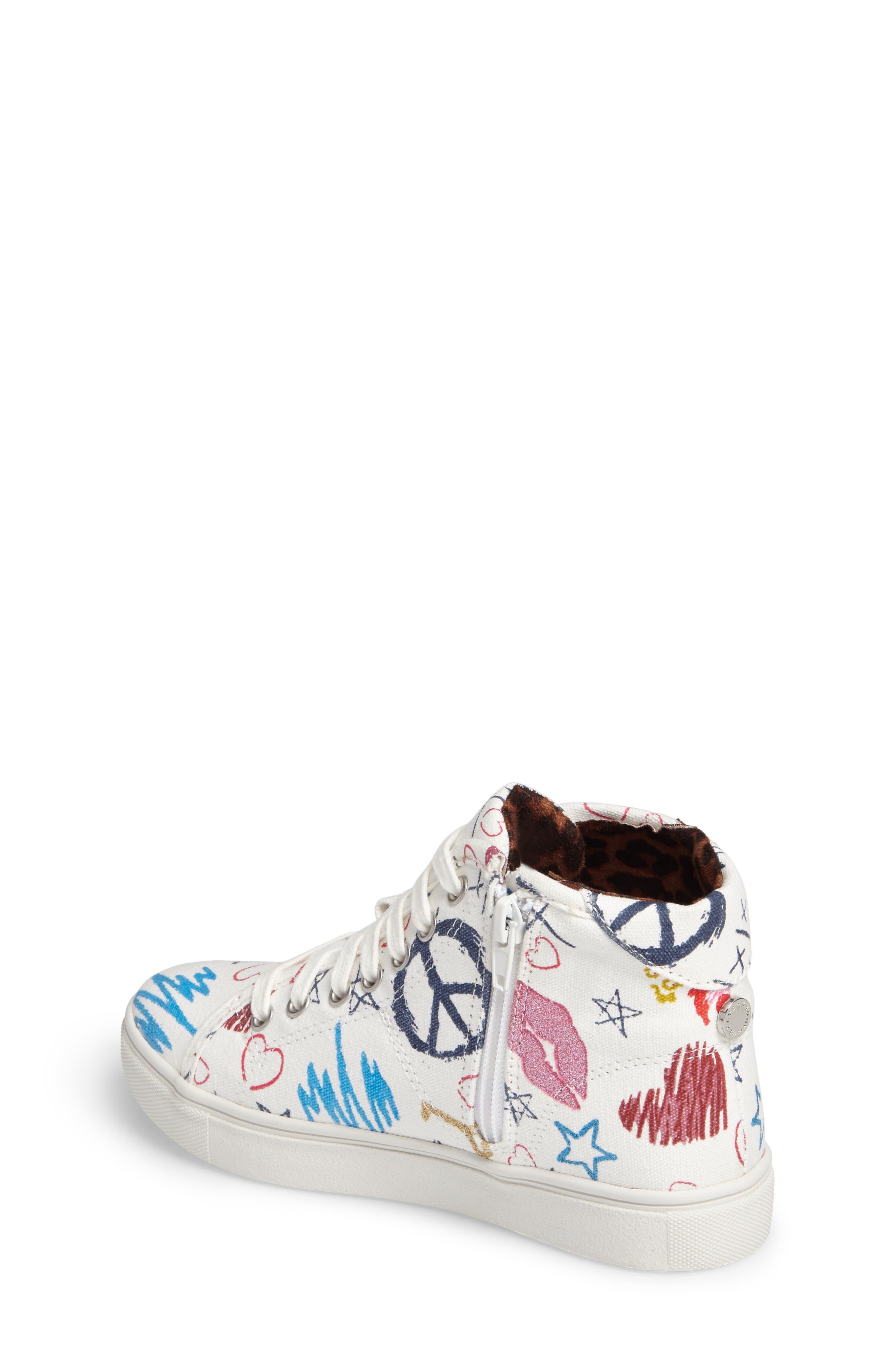 JScribble High Top Sneaker,                             Alternate thumbnail 2, color,                             White
