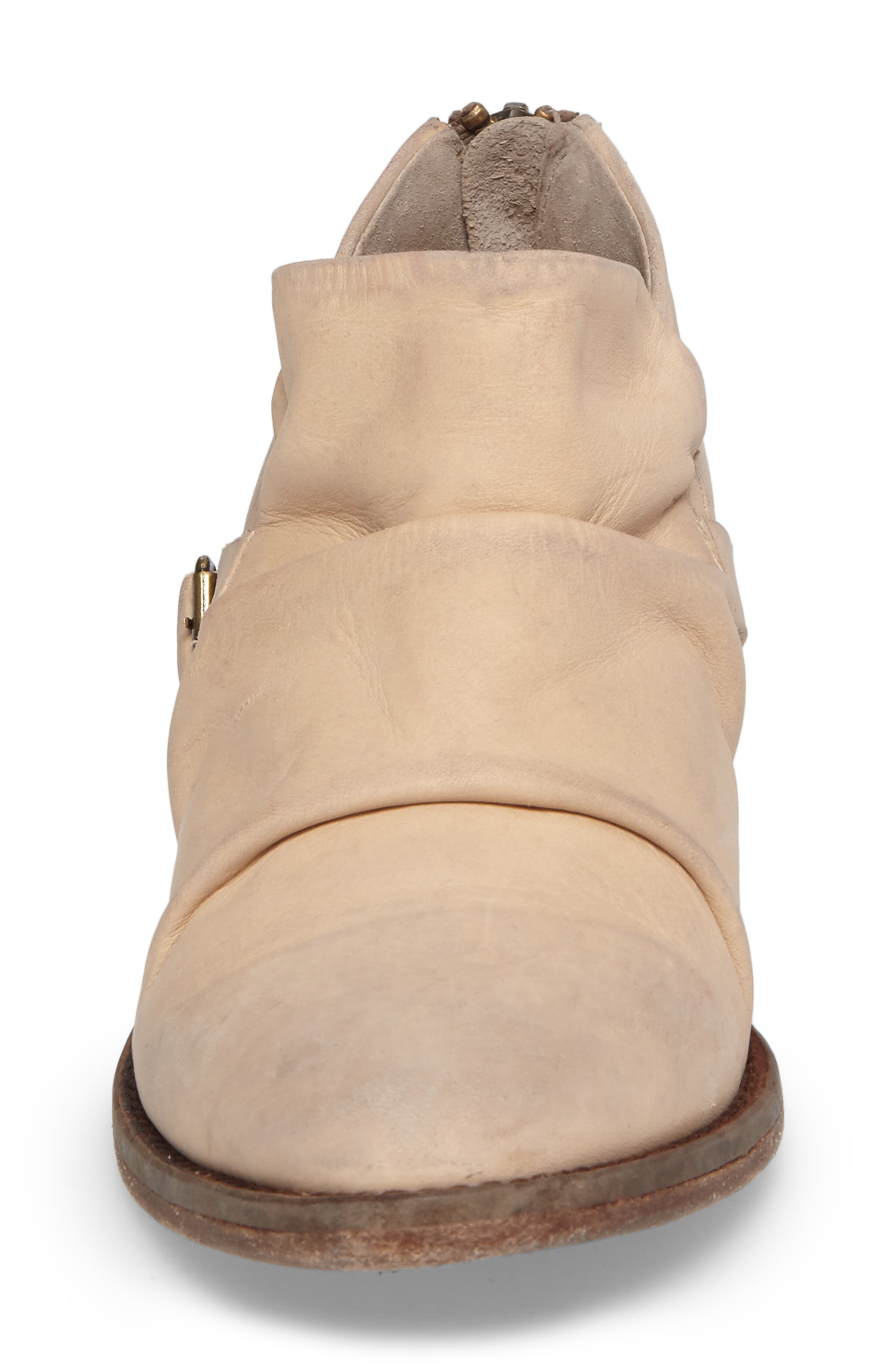Wills Ruched Bootie,                             Alternate thumbnail 4, color,                             Ivory Leather