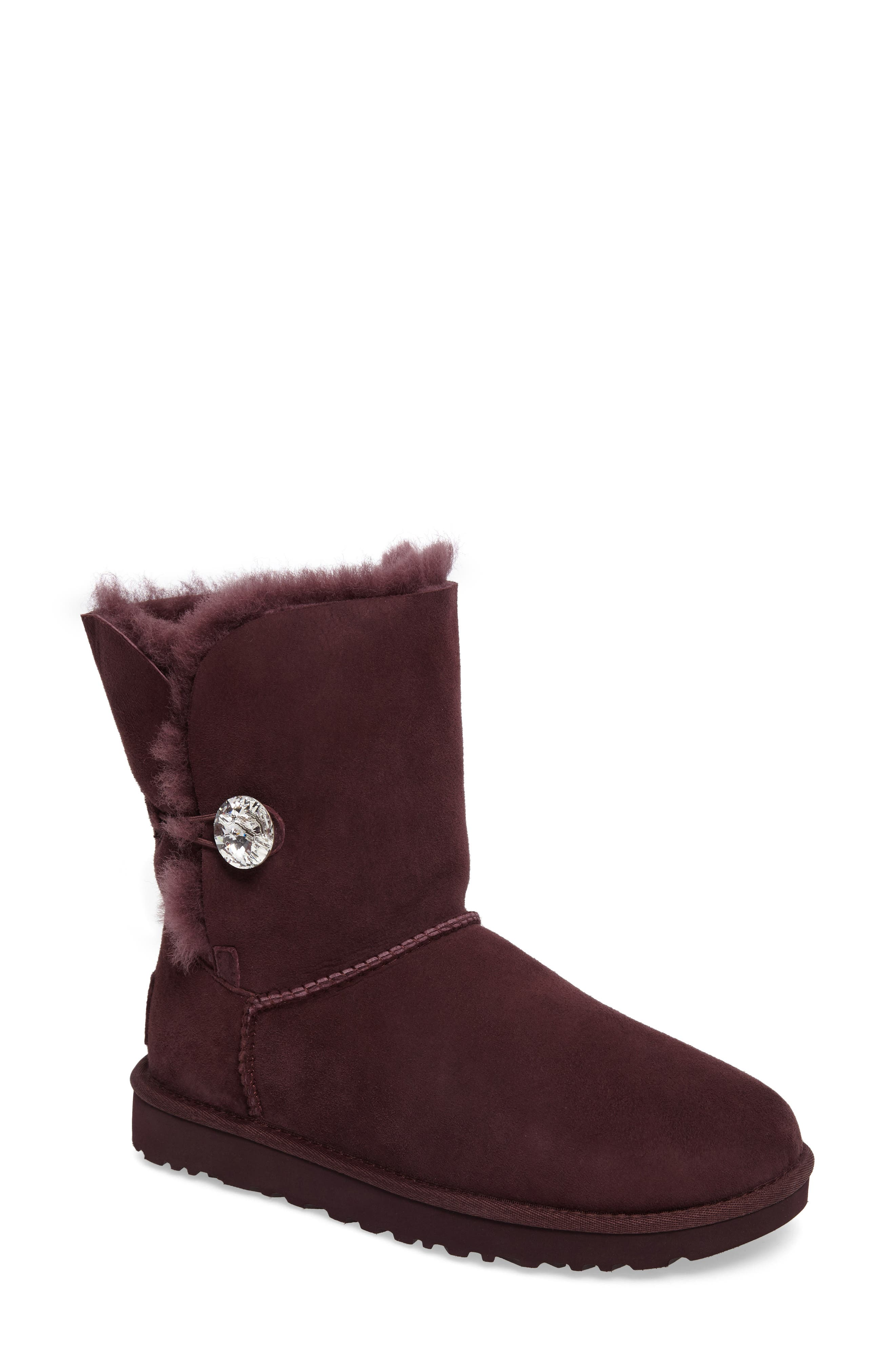 Alternate Image 1 Selected - UGG® Bailey Button Bling Genuine Shearling Boot (Women)