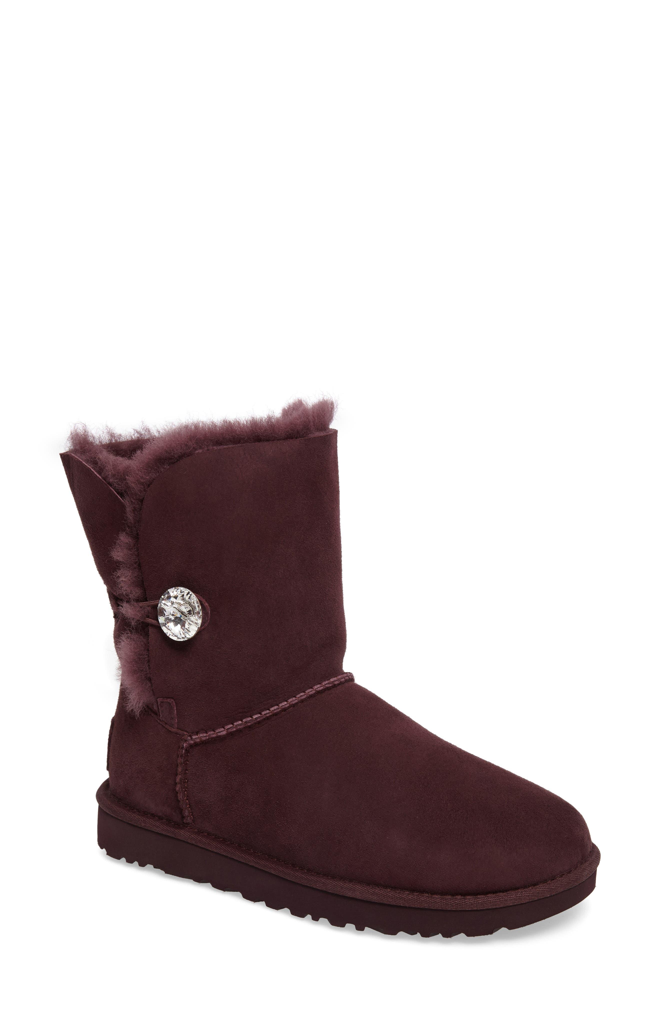 UGG® Bailey Button Bling Genuine Shearling Boot (Women)