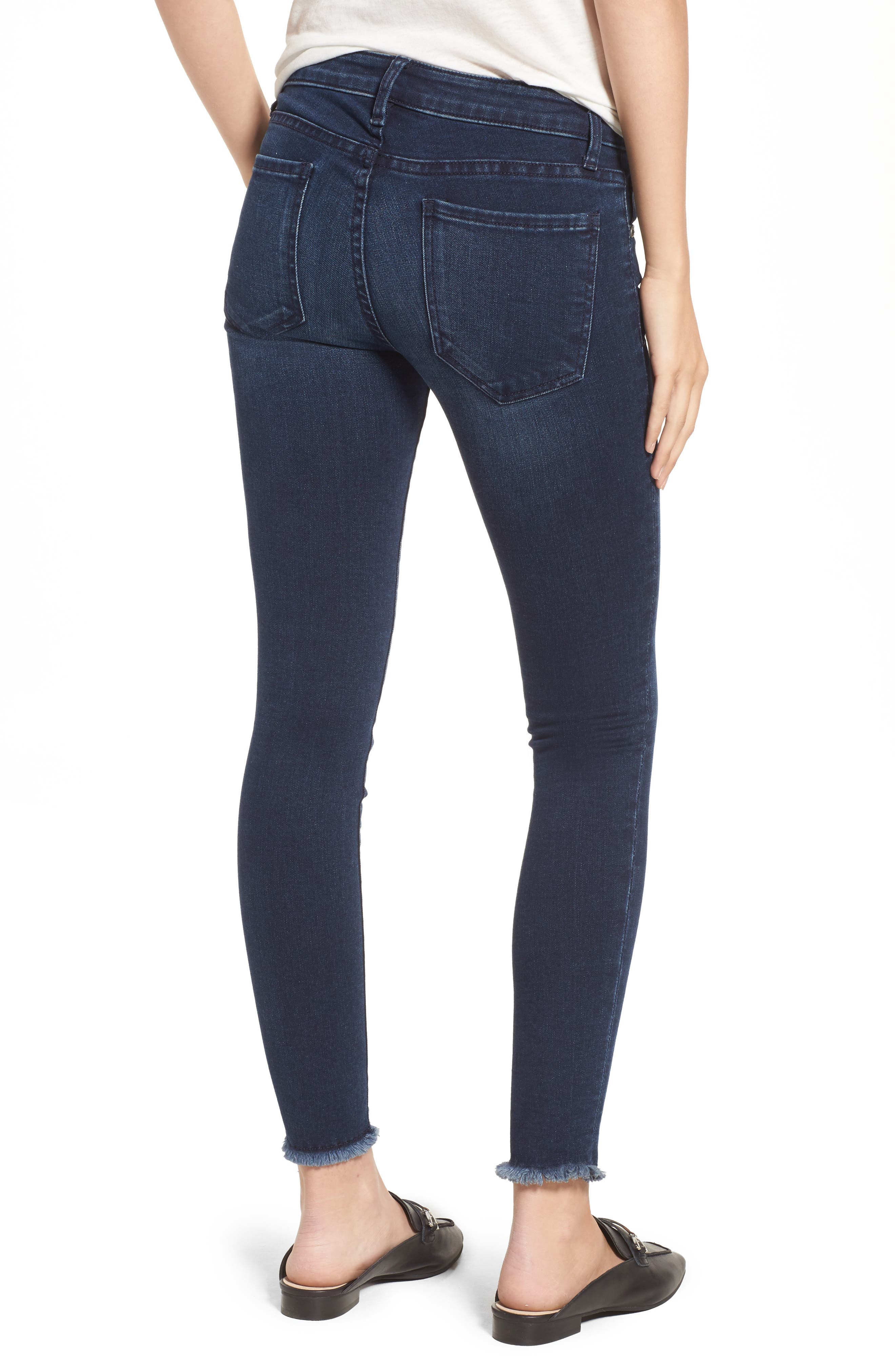 Alternate Image 3  - KUT from the Kloth Connie Skinny Ankle Jeans (Bloomed) (Regular & Petite)