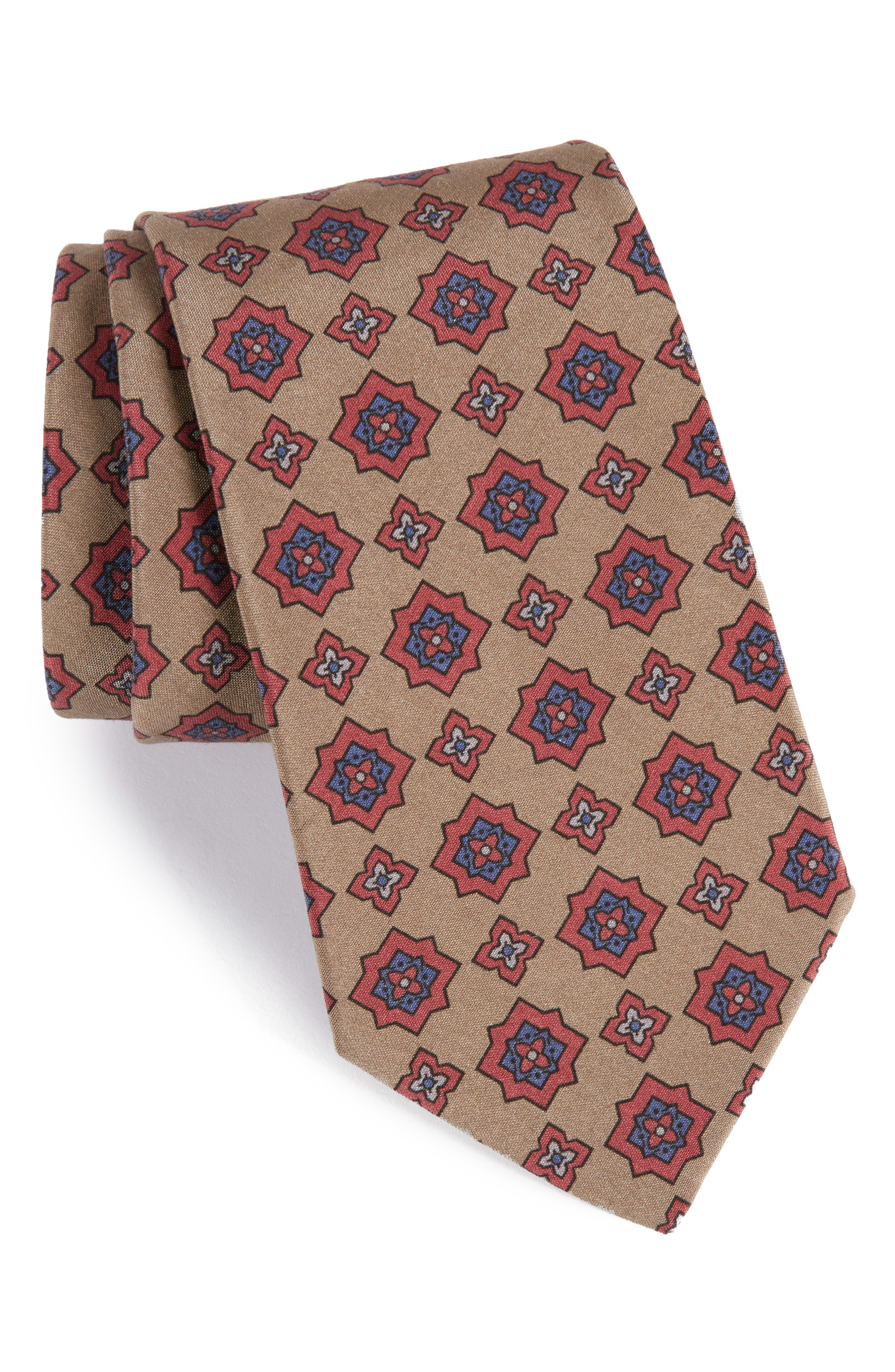 MICHAEL BASTIAN Medallion Silk Tie