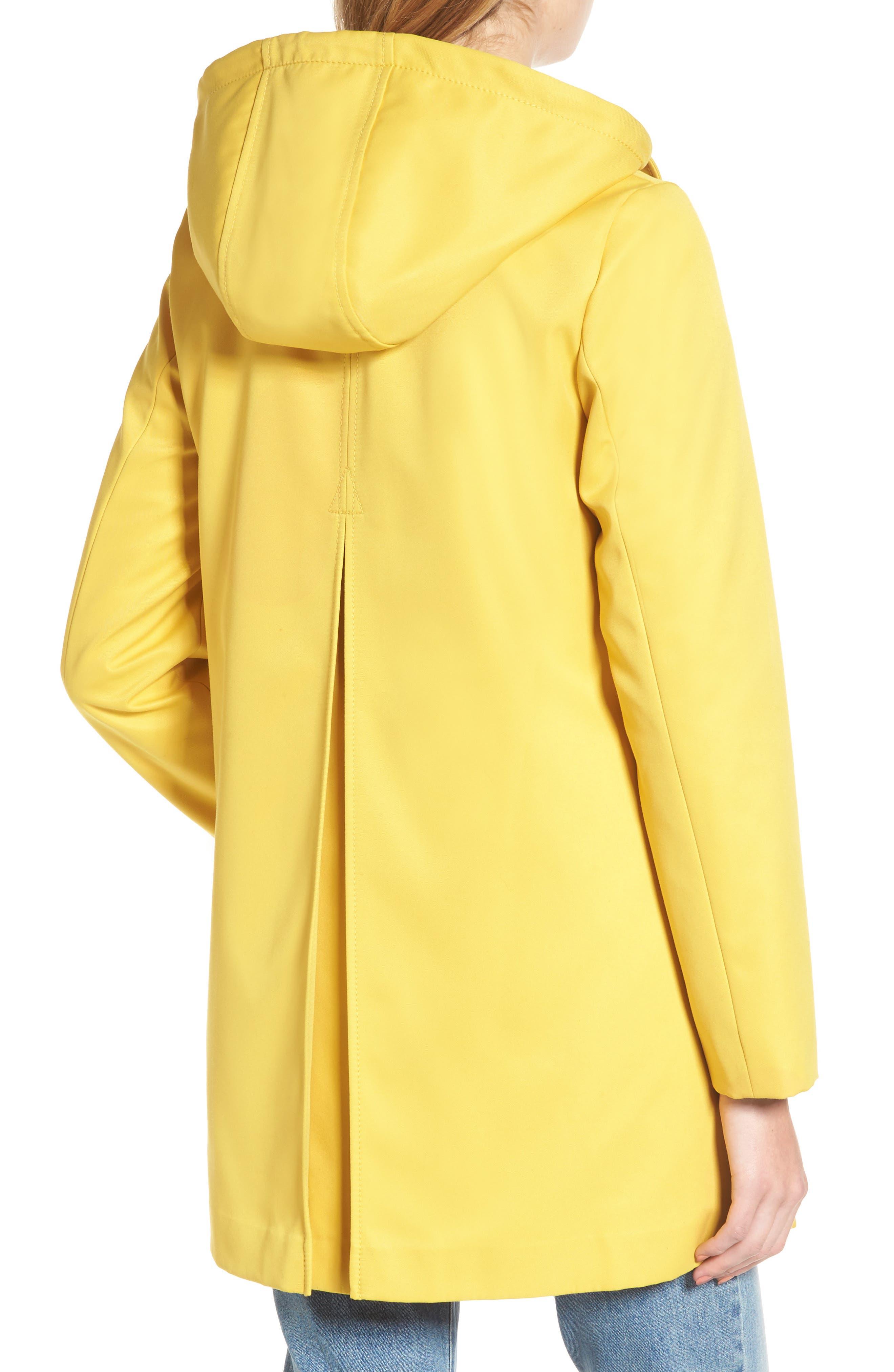 scallop edge raincoat,                             Alternate thumbnail 2, color,                             Citrine
