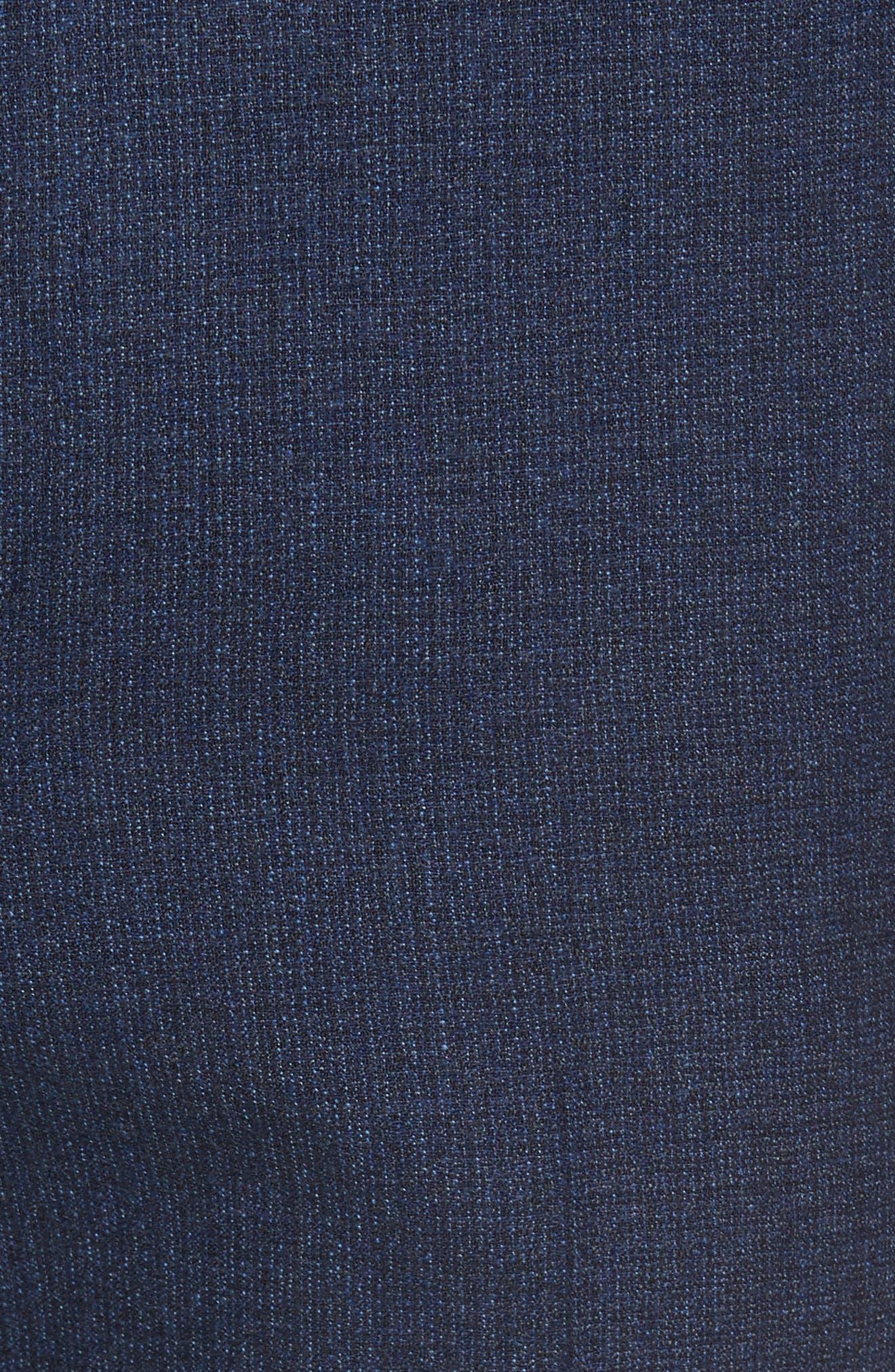 Alternate Image 5  - Santorelli Romero Regular Fit Flat Front Trousers