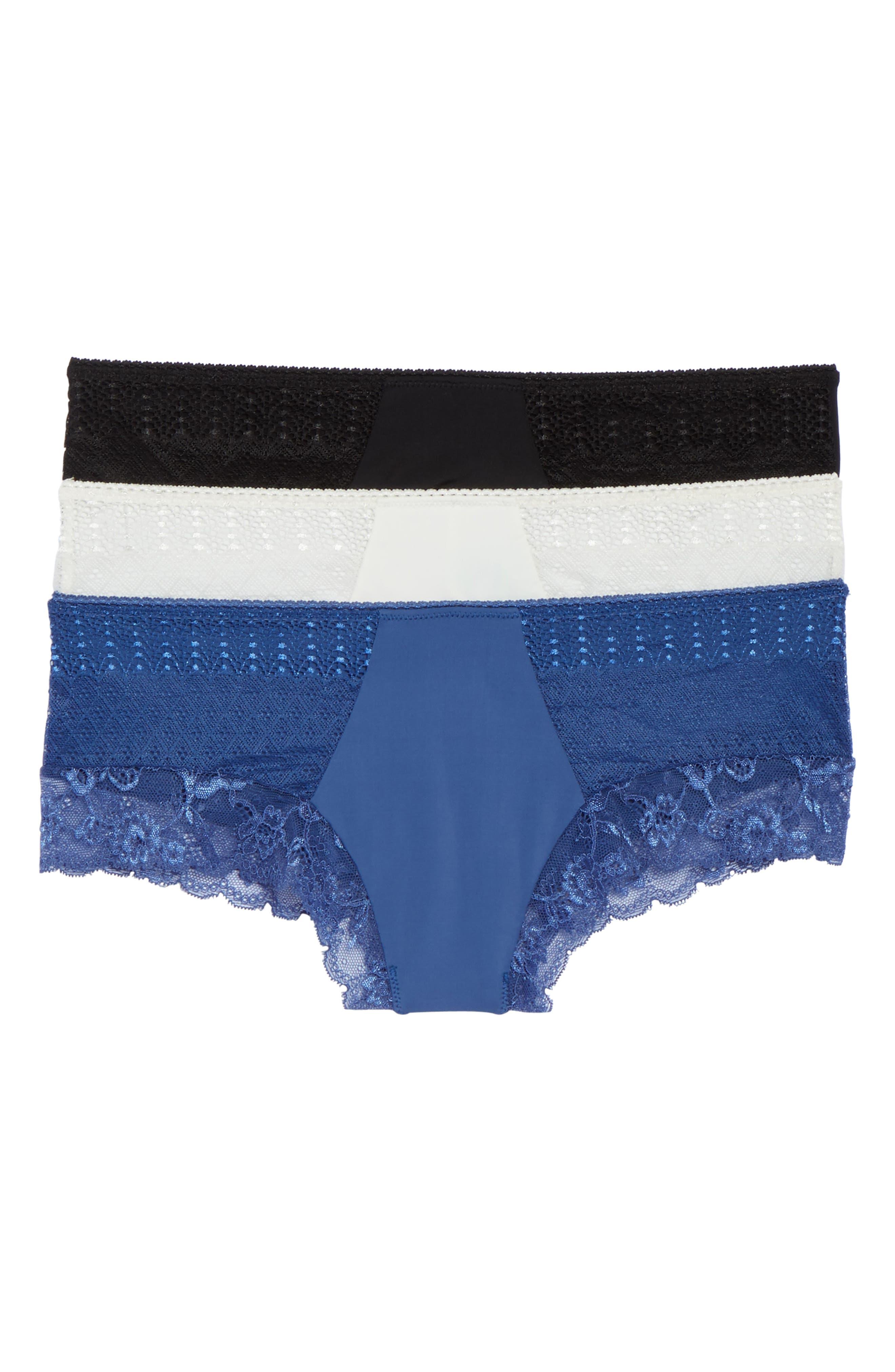 Main Image - Honeydew Intimates 3-Pack Lace Trim Hipster Panties
