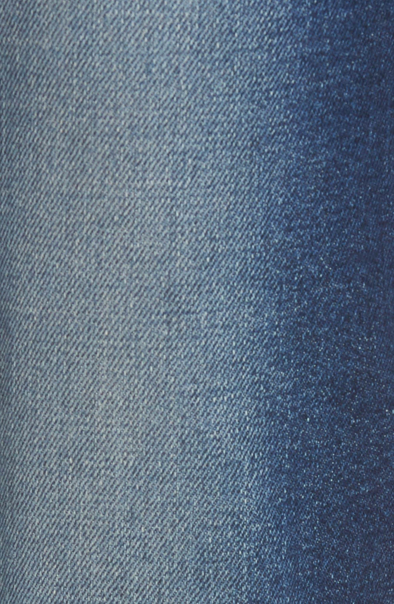 Alternate Image 5  - PARKER SMITH Pin-Up Crop Straight Leg Jeans (Captain)