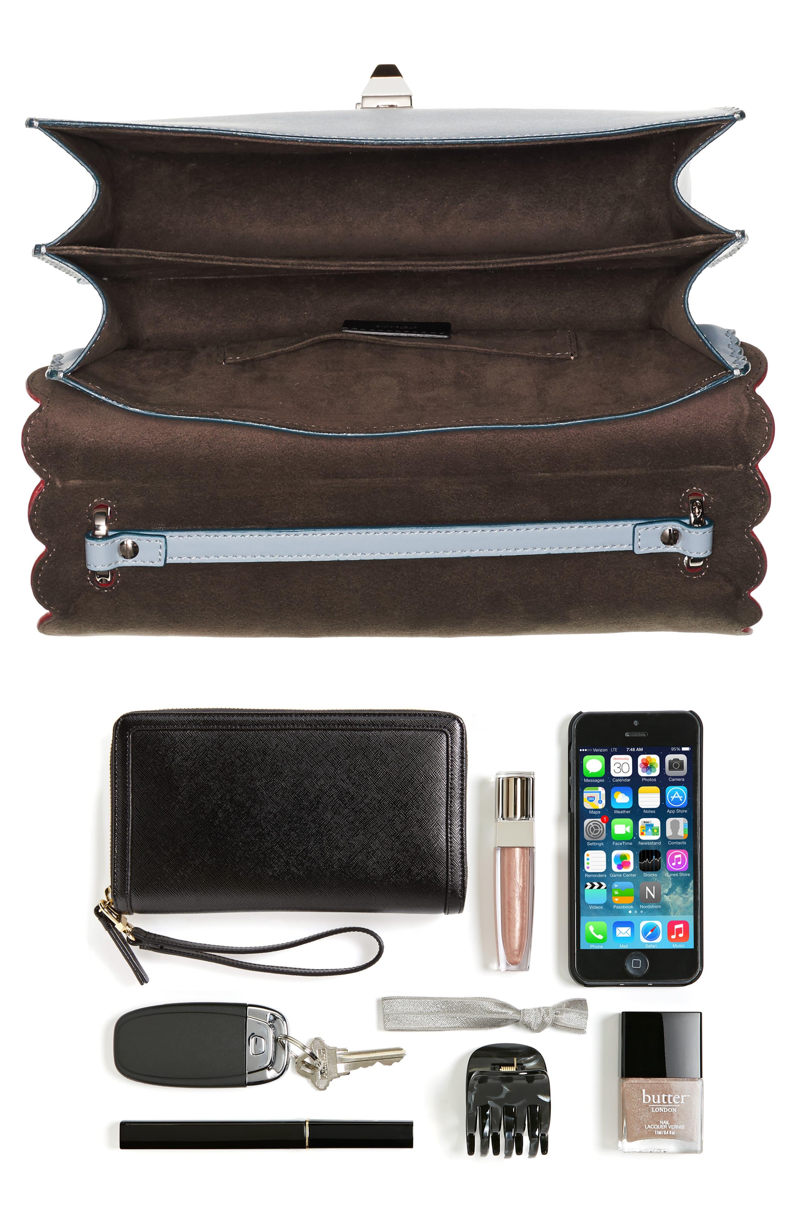 Alternate Image 6  - Fendi Kan I Liberty Leather Shoulder Bag