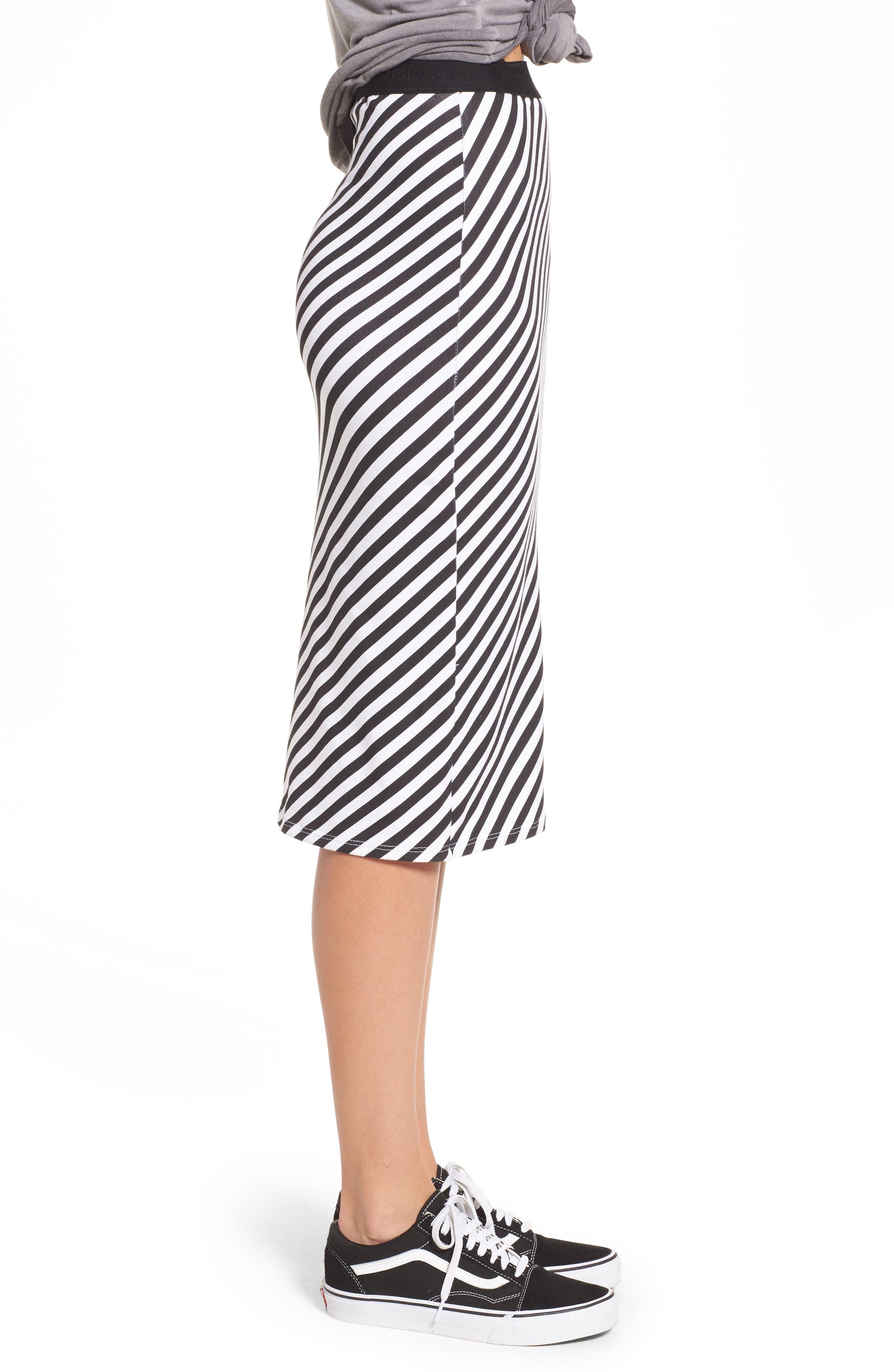 Alternate Image 3  - Volcom Futures Past Stripe Skirt