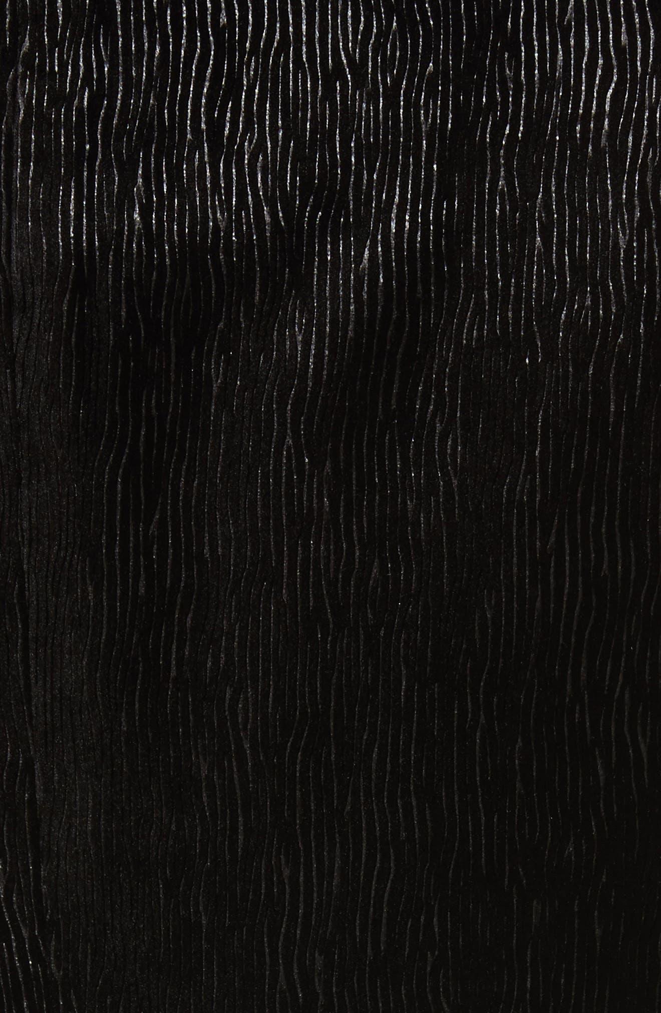Trim Fit Velvet Dinner Jacket,                             Alternate thumbnail 5, color,                             Black