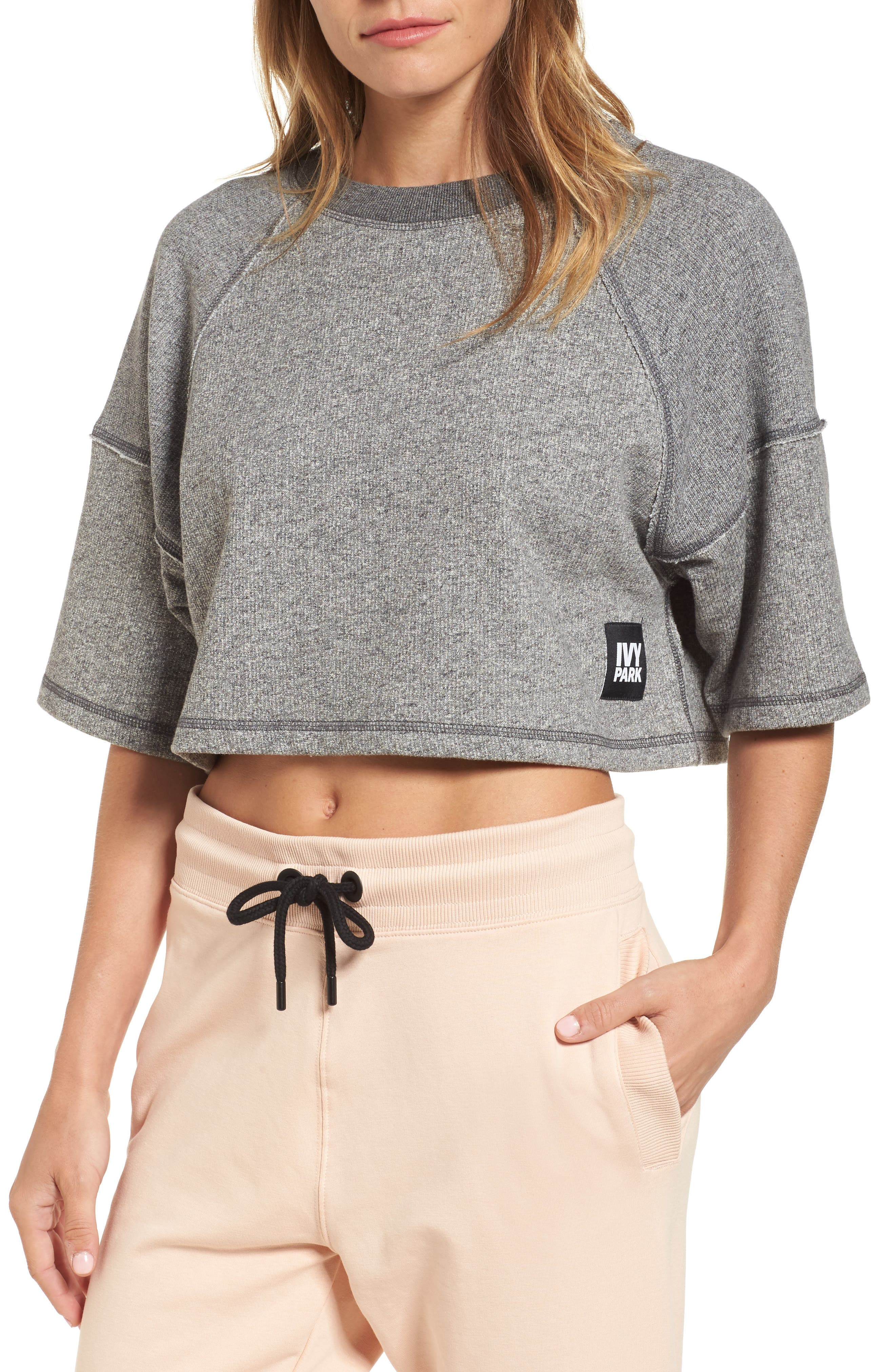 IVY PARK® Raw Edge Crop Top