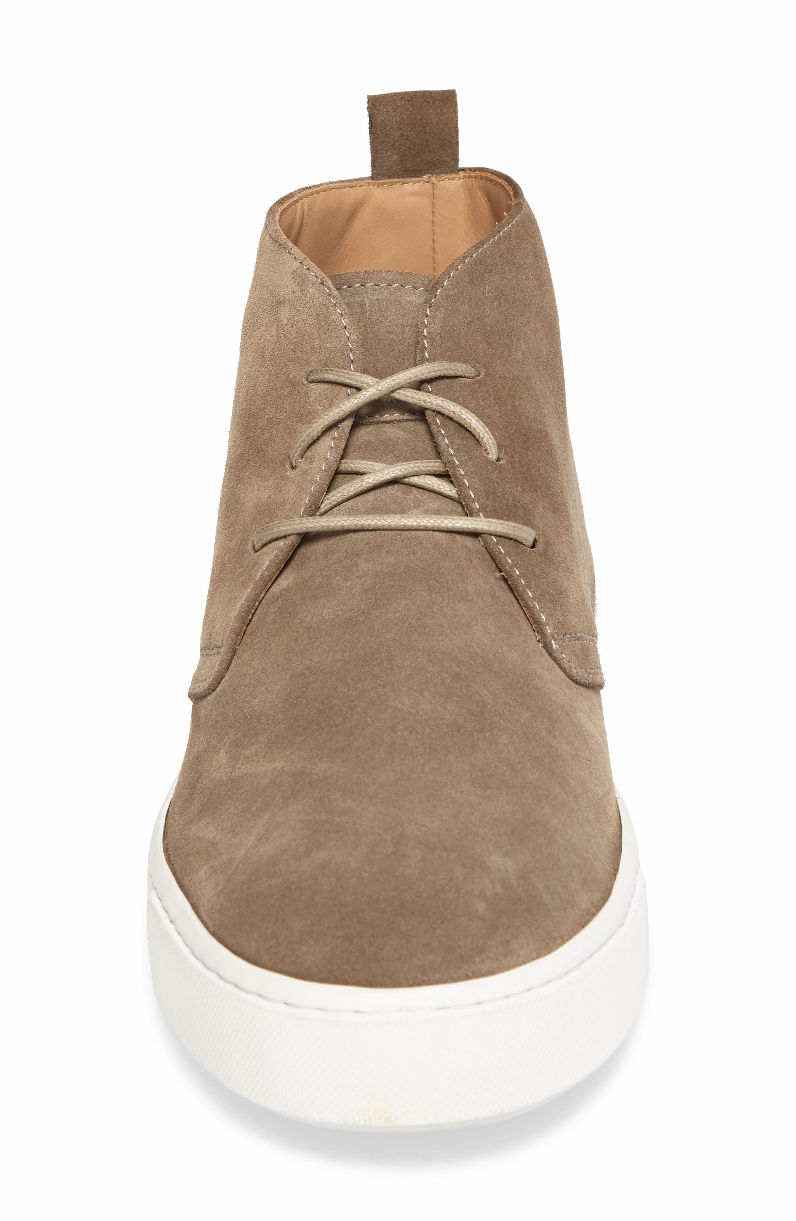 Leather Chukka Boot,                             Alternate thumbnail 4, color,                             Brown Suede