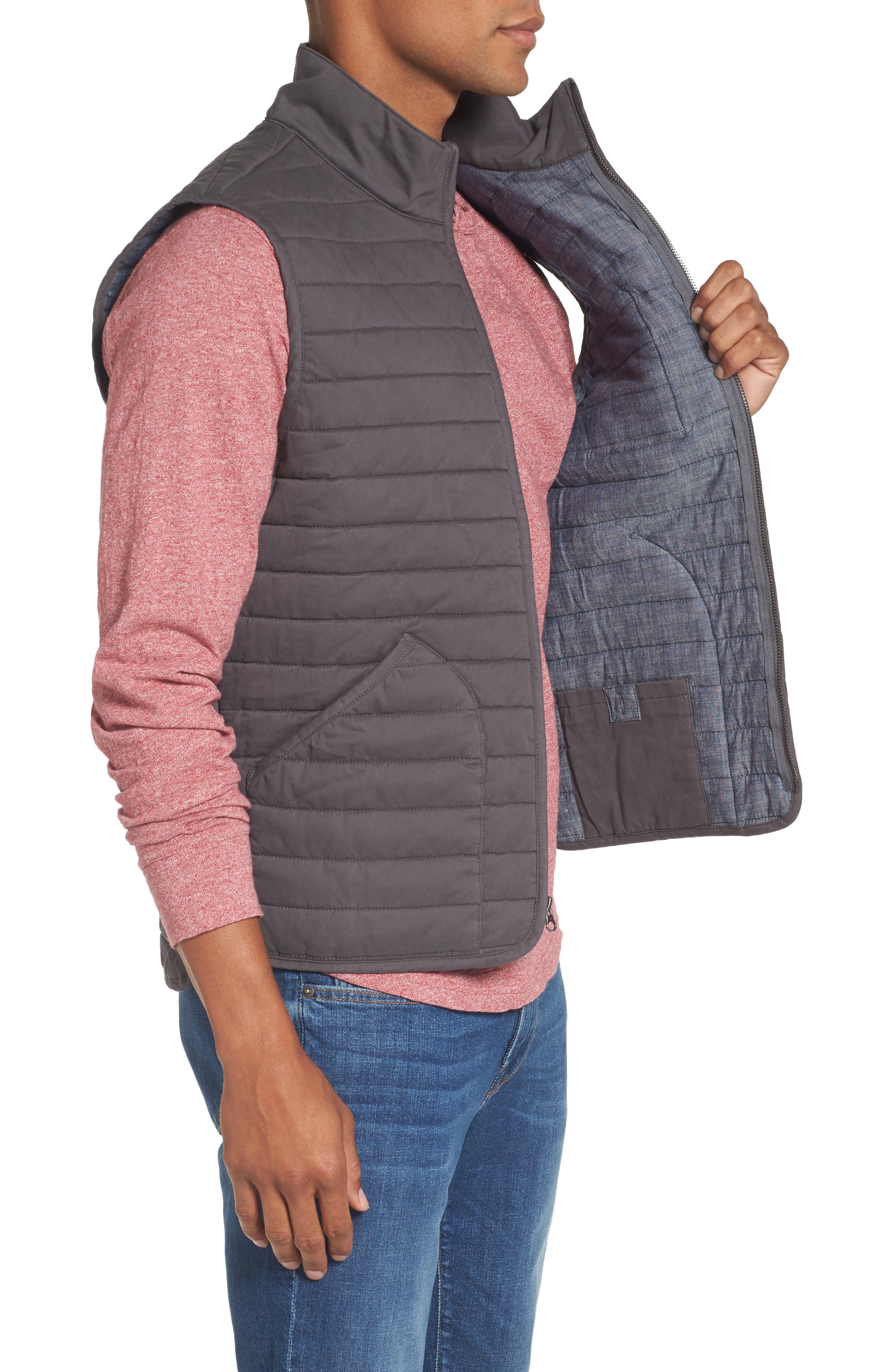 Alternate Image 3  - Nordstrom Men's Shop Quilted Twill Vest (Regular & Tall)
