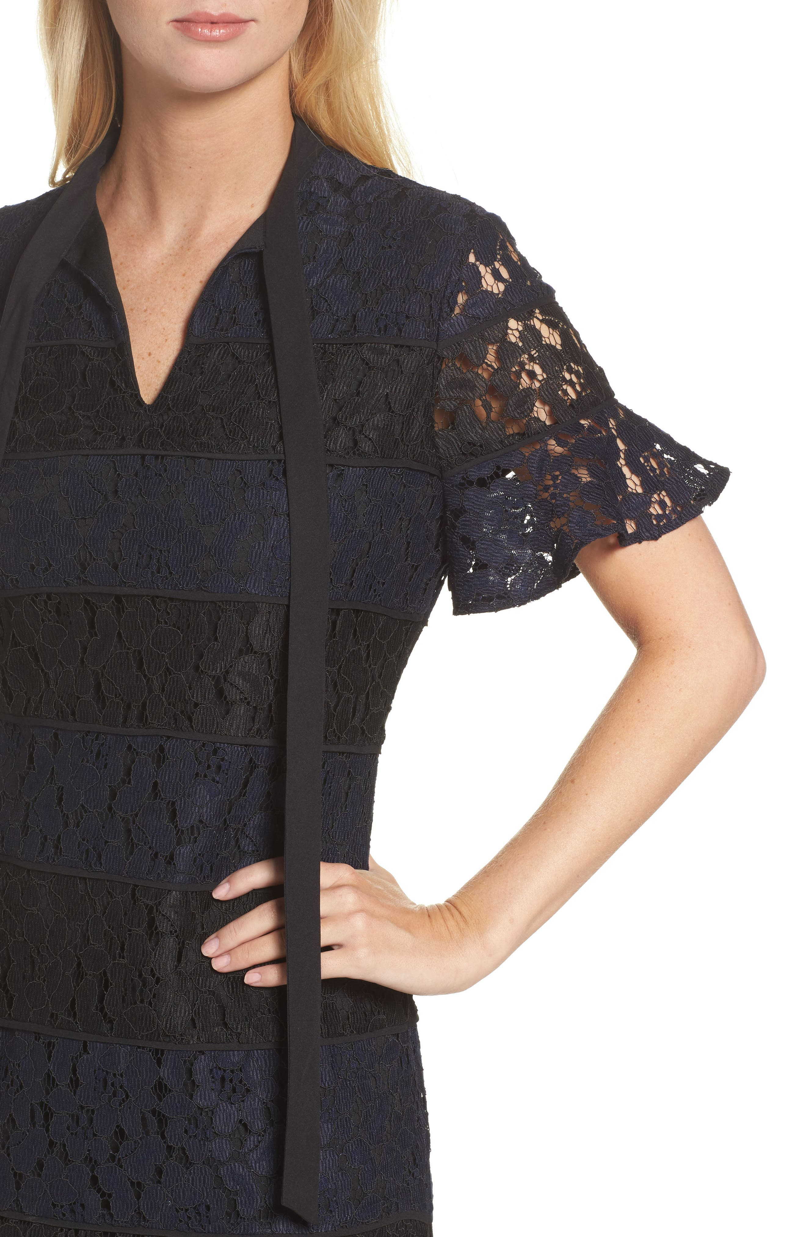 Alternate Image 4  - Julia Jordan Lace Fit & Flare Dress