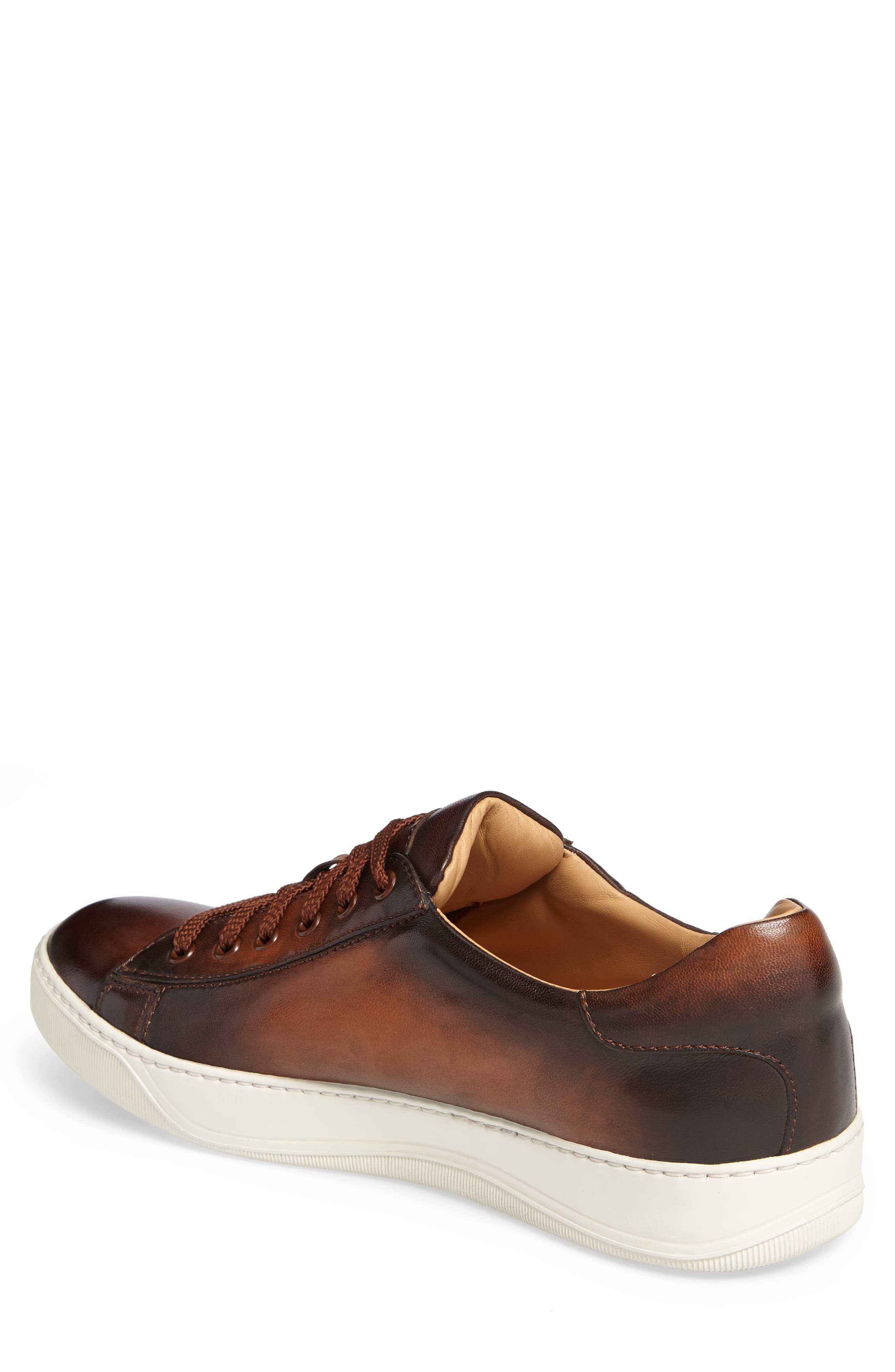 'Apache' Lace-Up Sneaker,                             Alternate thumbnail 2, color,                             Brown