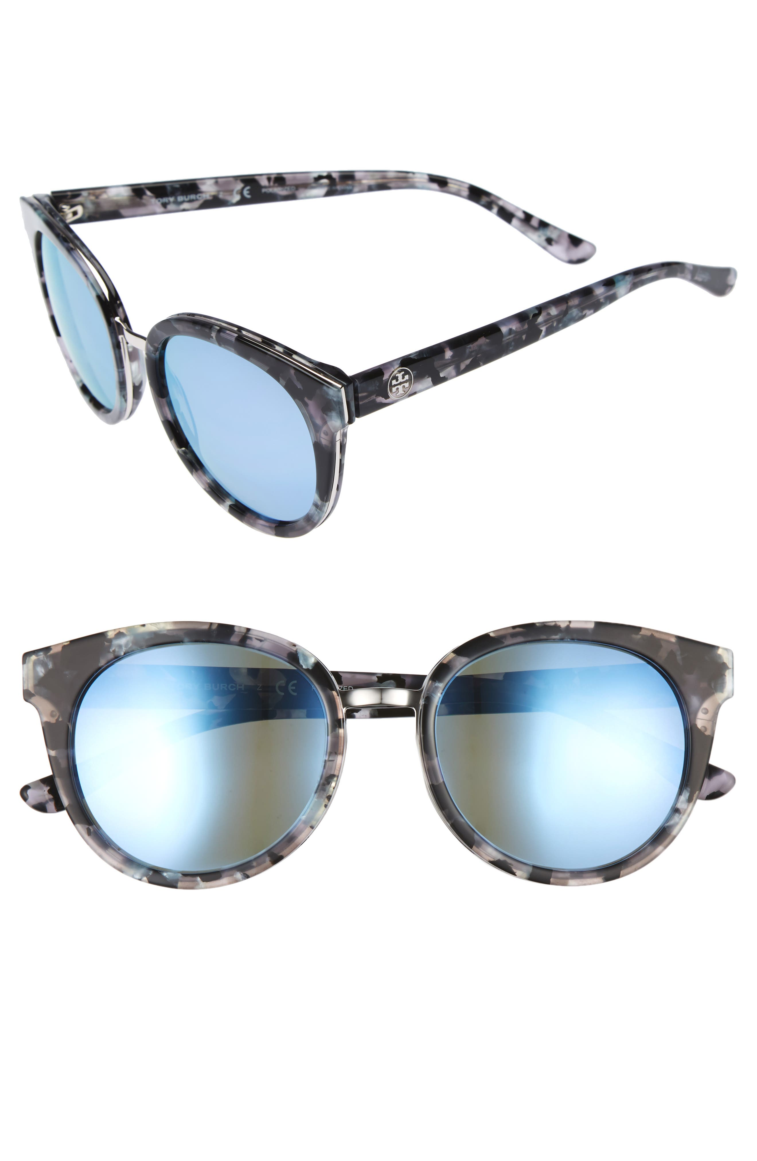 Alternate Image 1 Selected - Tory Burch 53mm Polarized Sunglasses