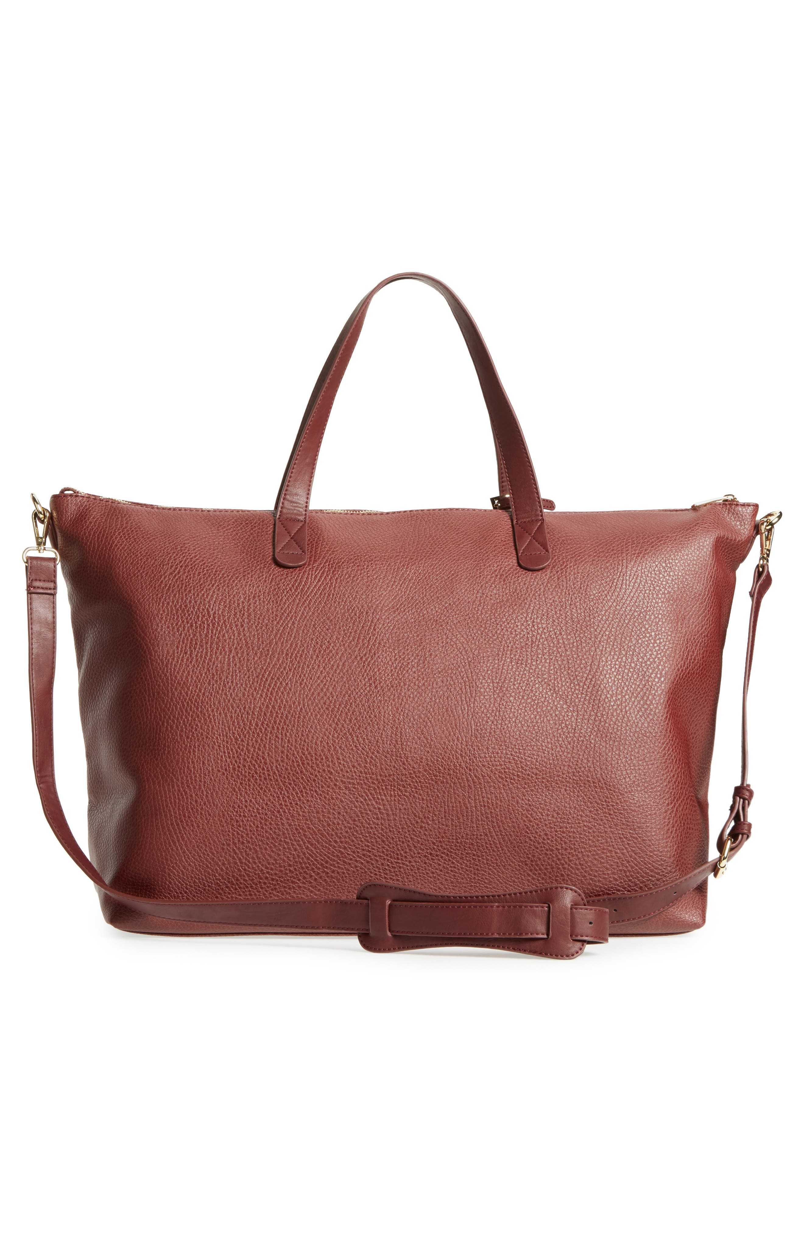 Candice Oversize Travel Tote,                             Alternate thumbnail 2, color,                             Oxblood