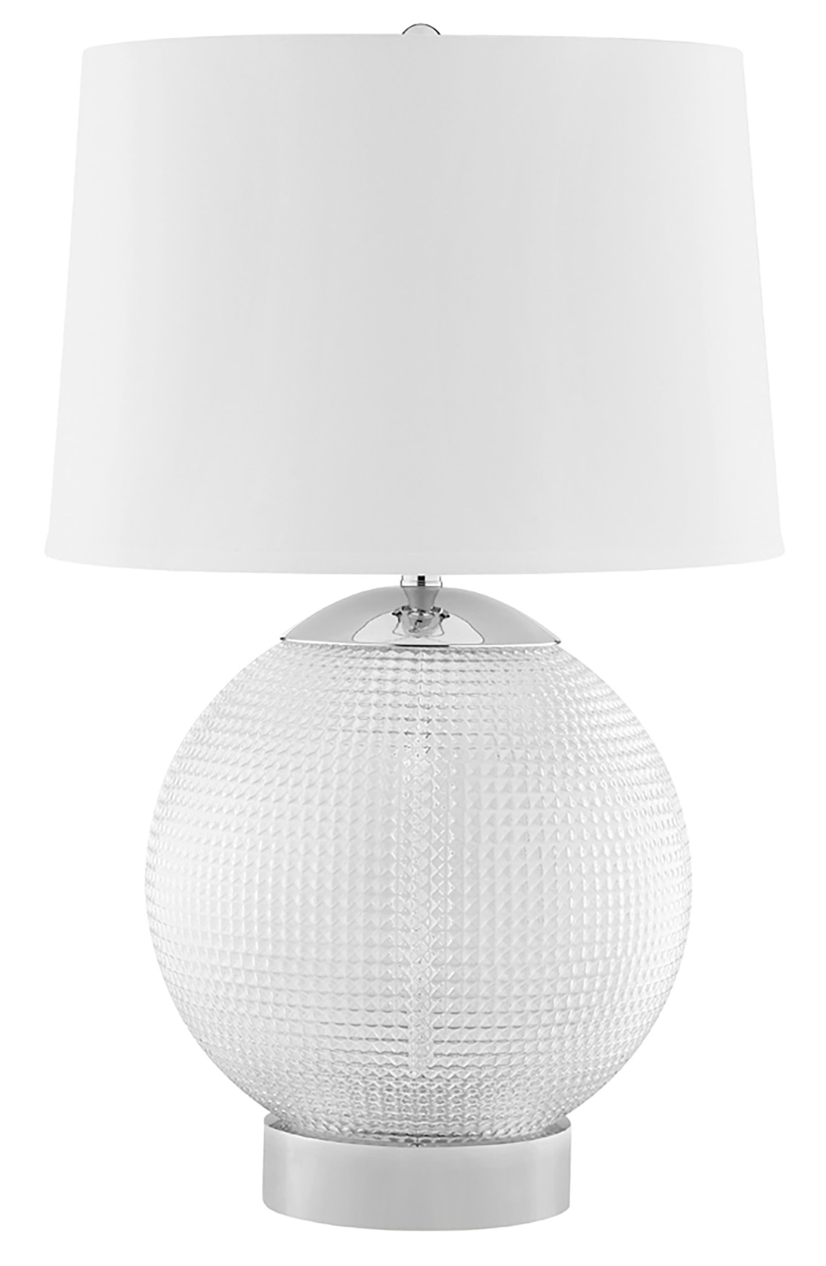 JAlexander Olivia Table Lamp,                             Main thumbnail 1, color,                             White