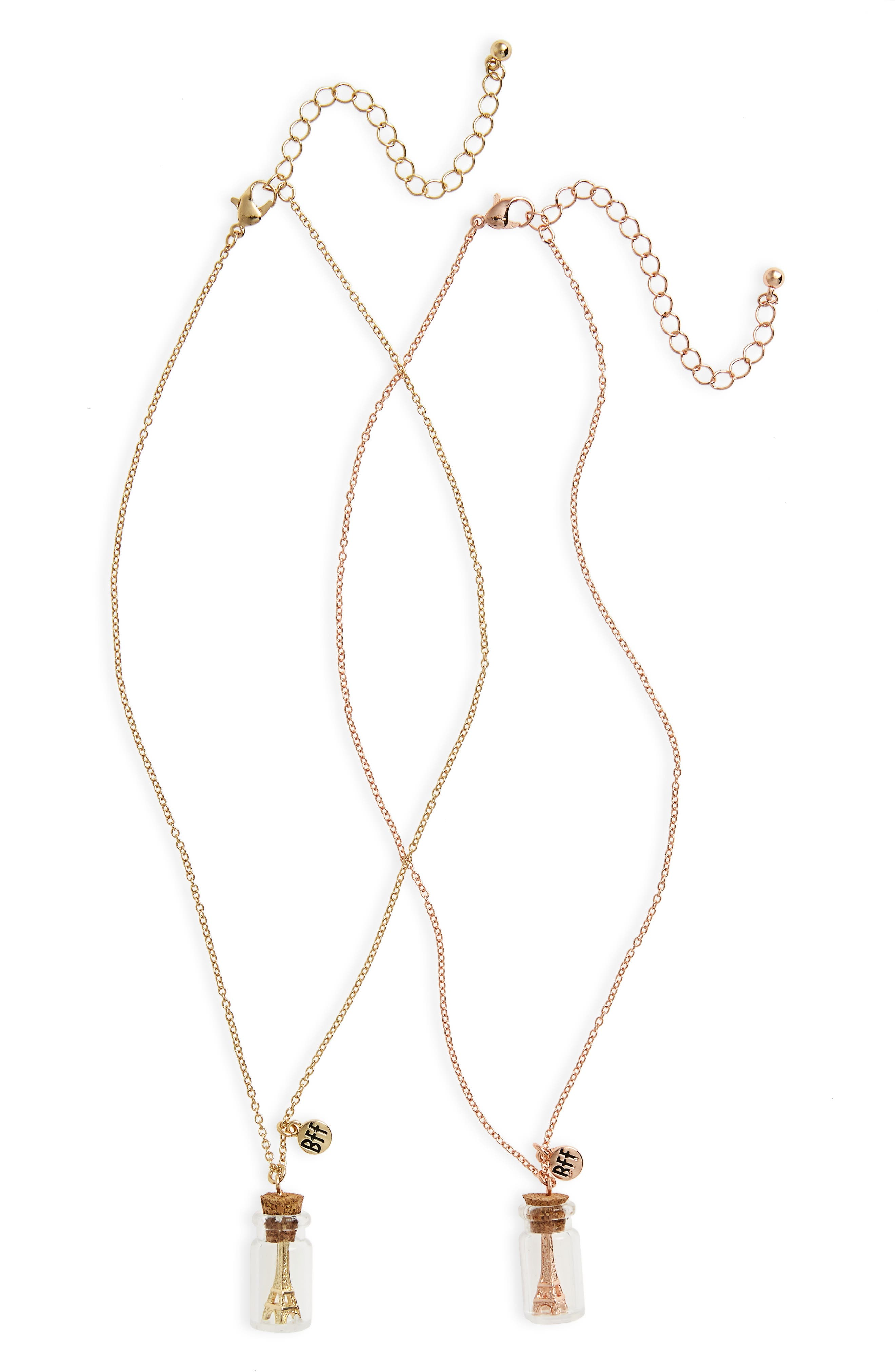 Main Image - Capelli New York Set of 2 Paris BFF Necklaces (Girls)