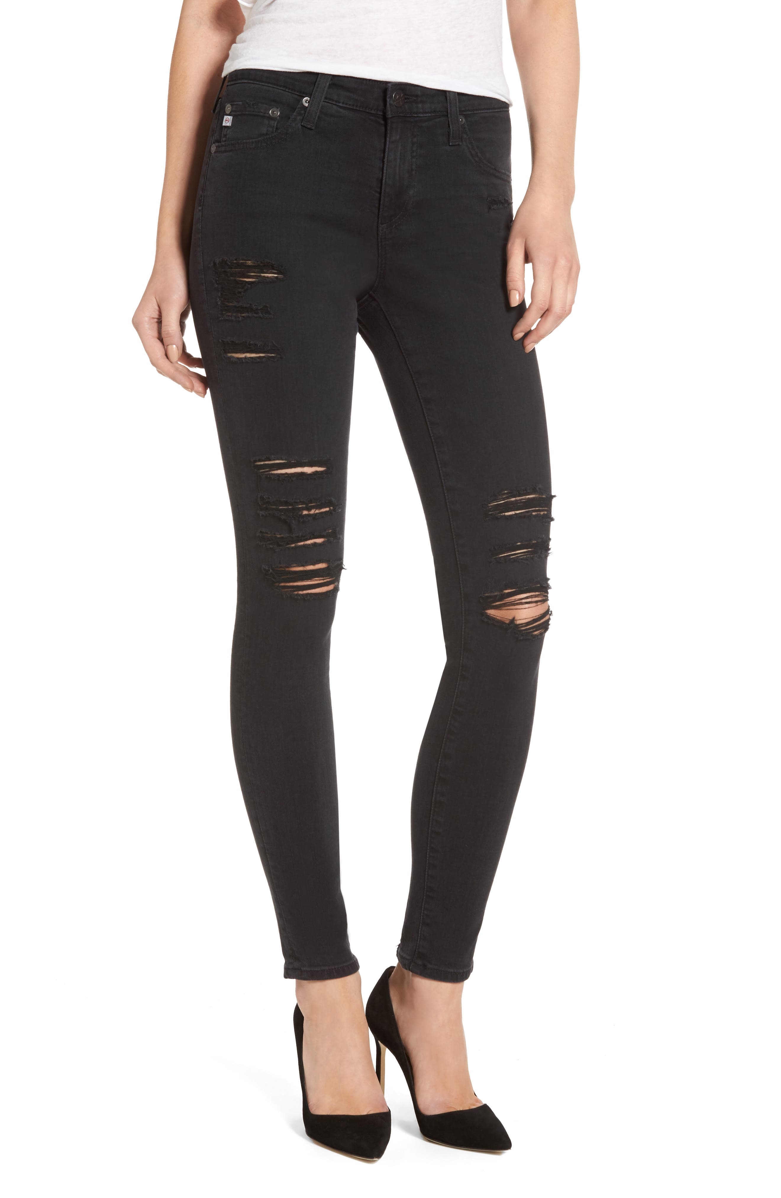 'The Legging' Ankle Super Skinny Jeans,                         Main,                         color, 3 Years Requiem