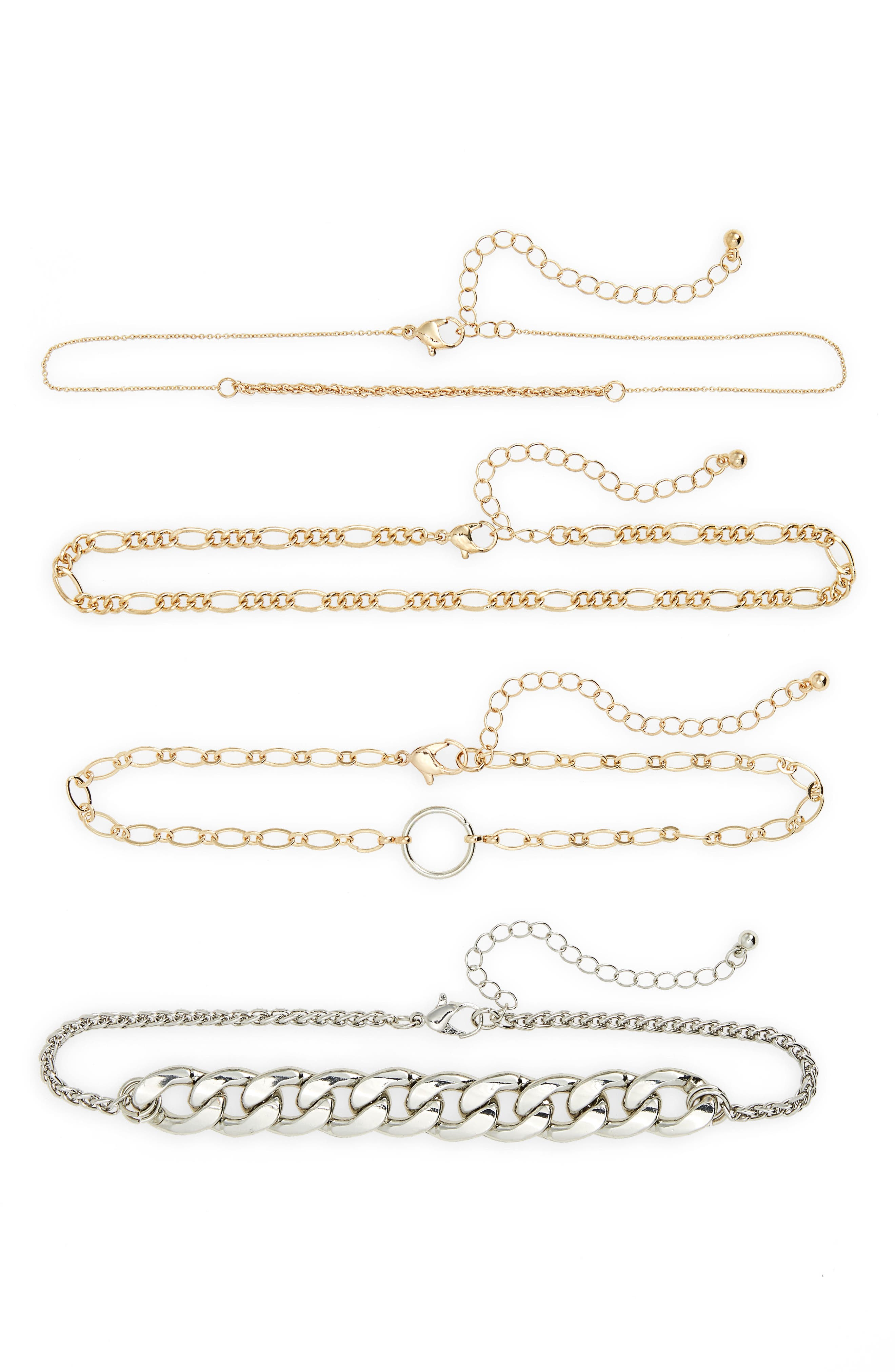BP. 4-Pack Mixed Metal Chokers