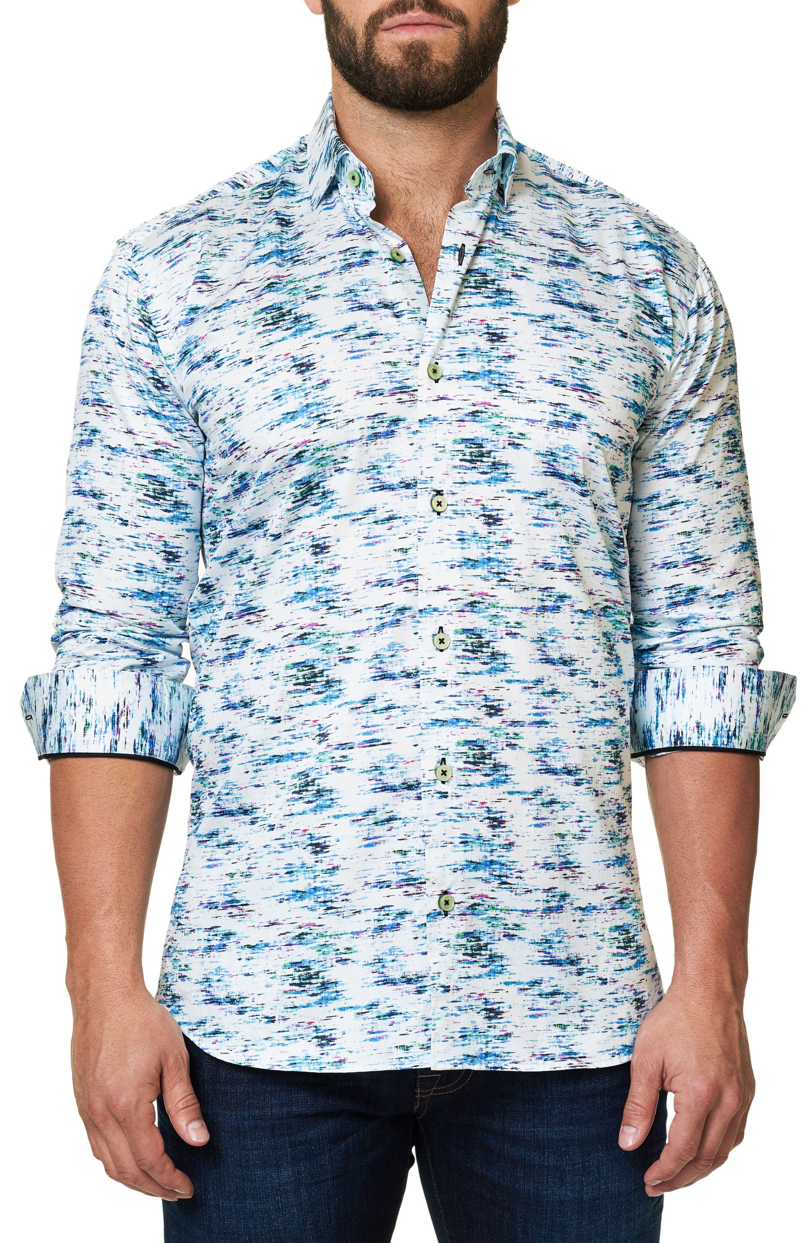 Alternate Image 1 Selected - Maceoo Luxor Slim Fit Print Sport Shirt