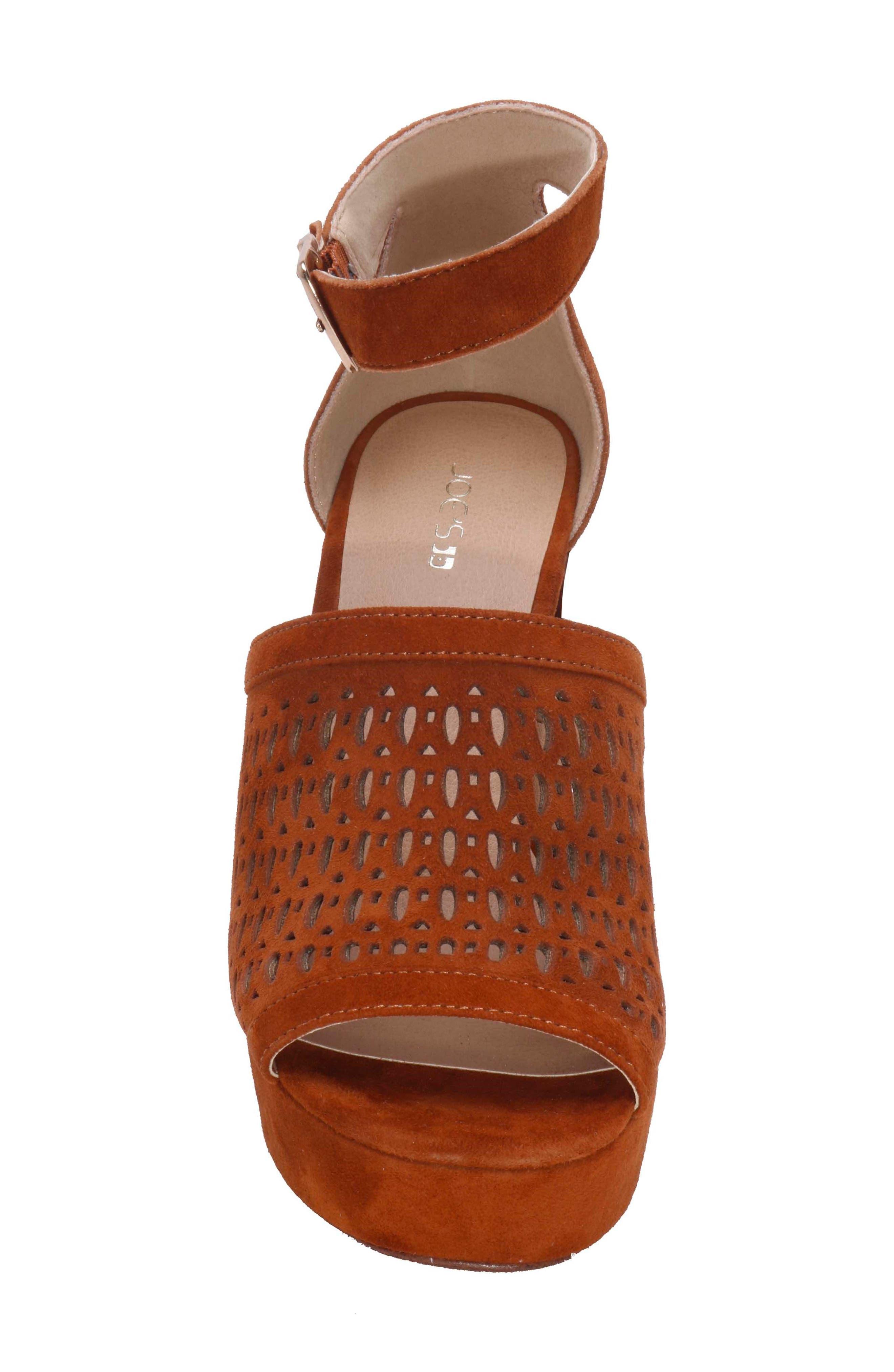 Lorne Platform Sandal,                             Alternate thumbnail 4, color,                             Camel Suede