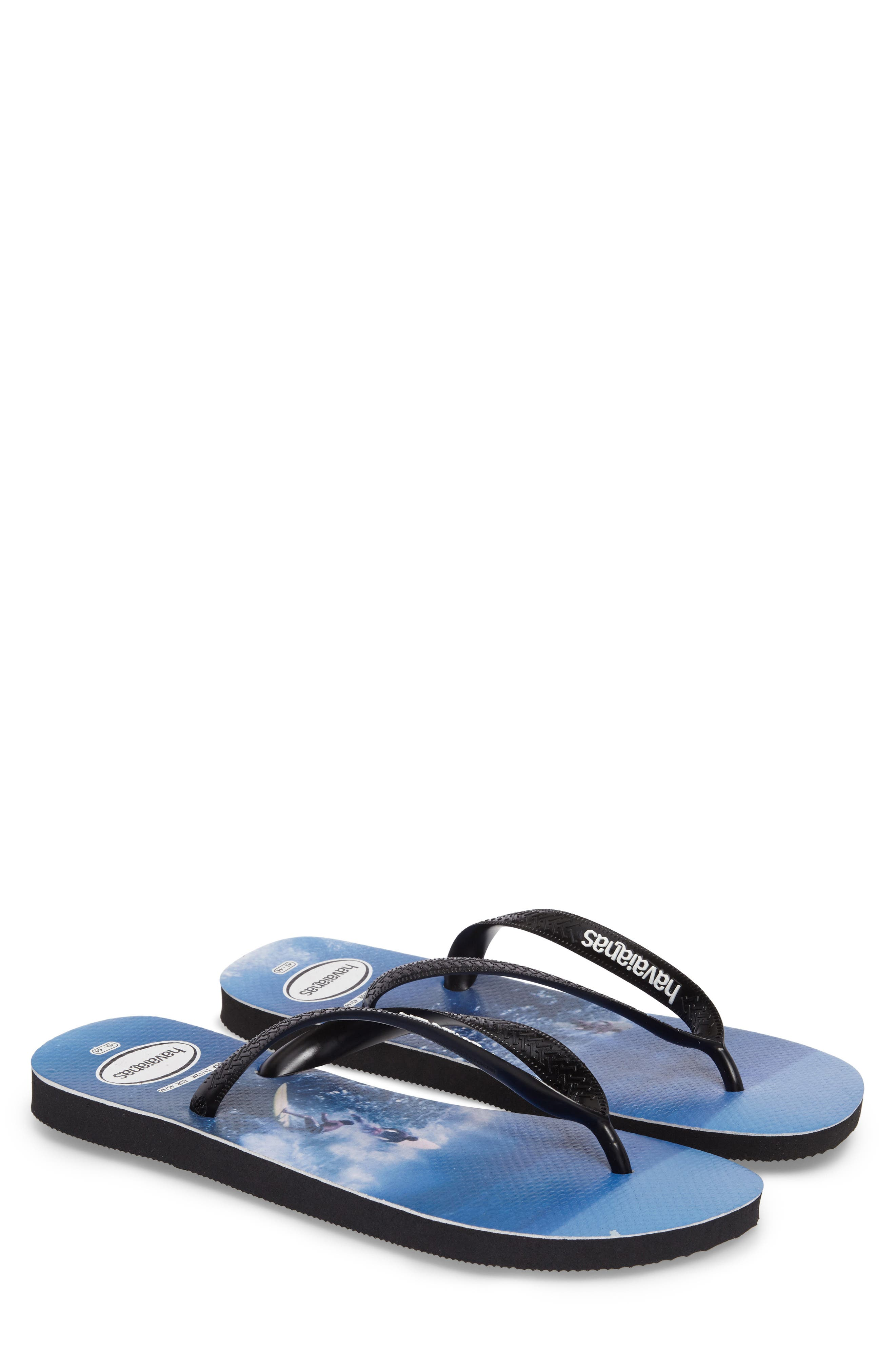 Alternate Image 1 Selected - Havaianas Top Photo Print Flip Flop (Men)