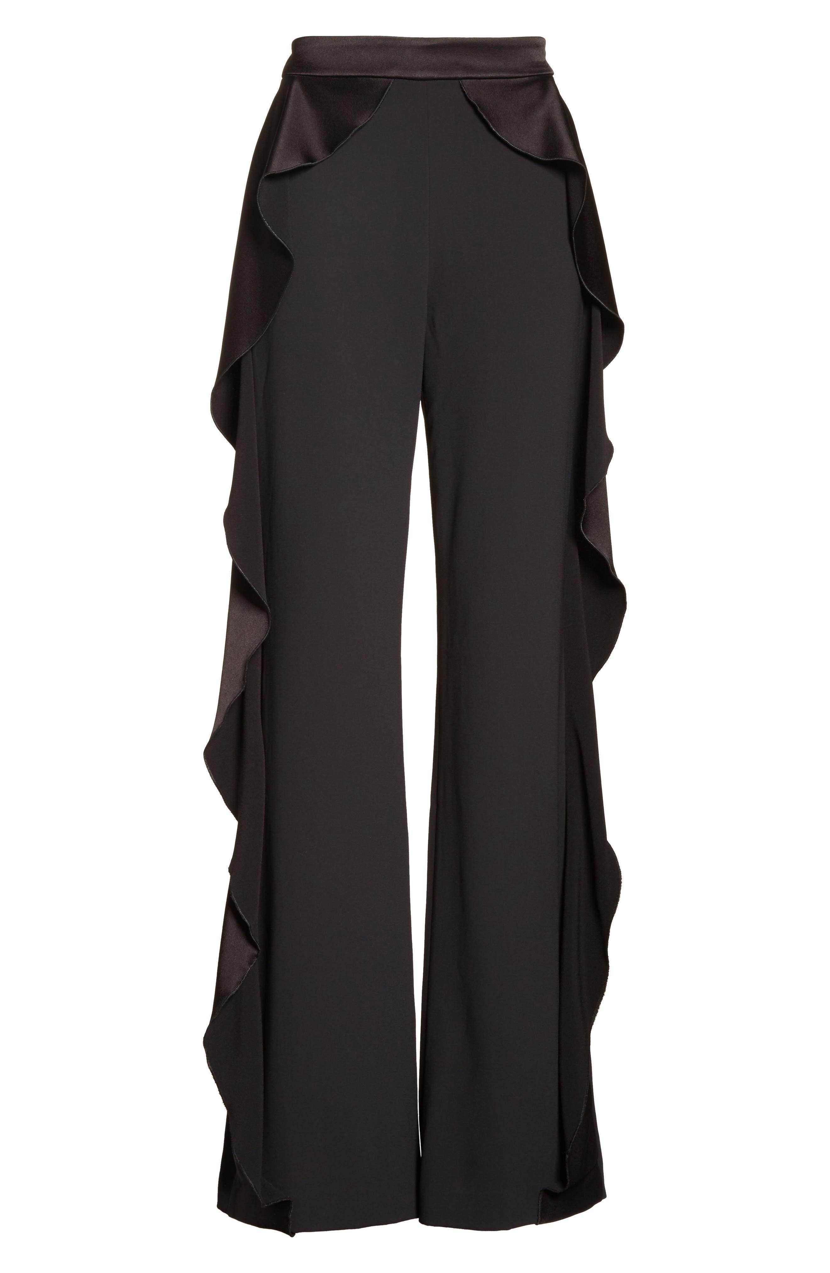 Alternate Image 6  - Alice + Olivia Wallace Side Ruffle High Waist Pants