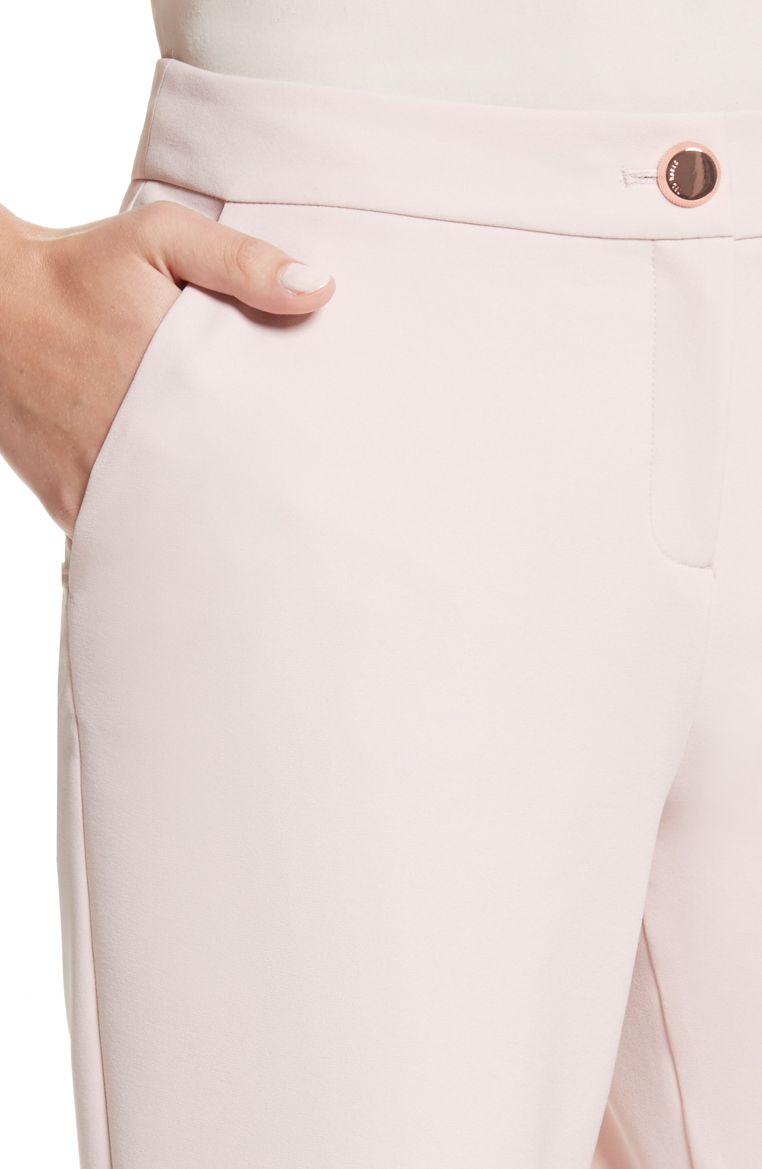 Suria Tailored Ankle Grazer Trousers,                             Alternate thumbnail 4, color,                             Pale Pink