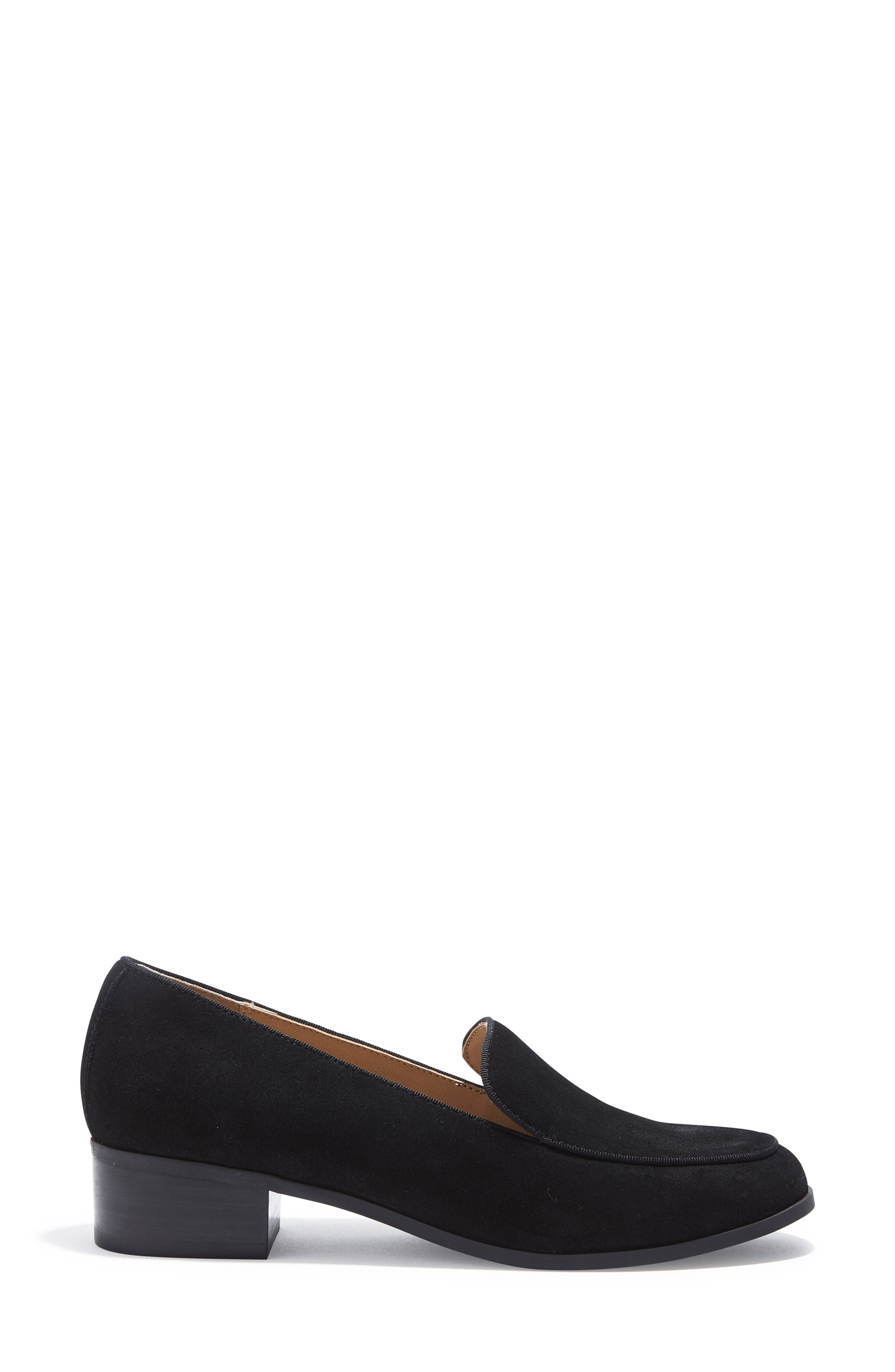 Jazzy Loafer,                             Alternate thumbnail 3, color,                             Black Suede