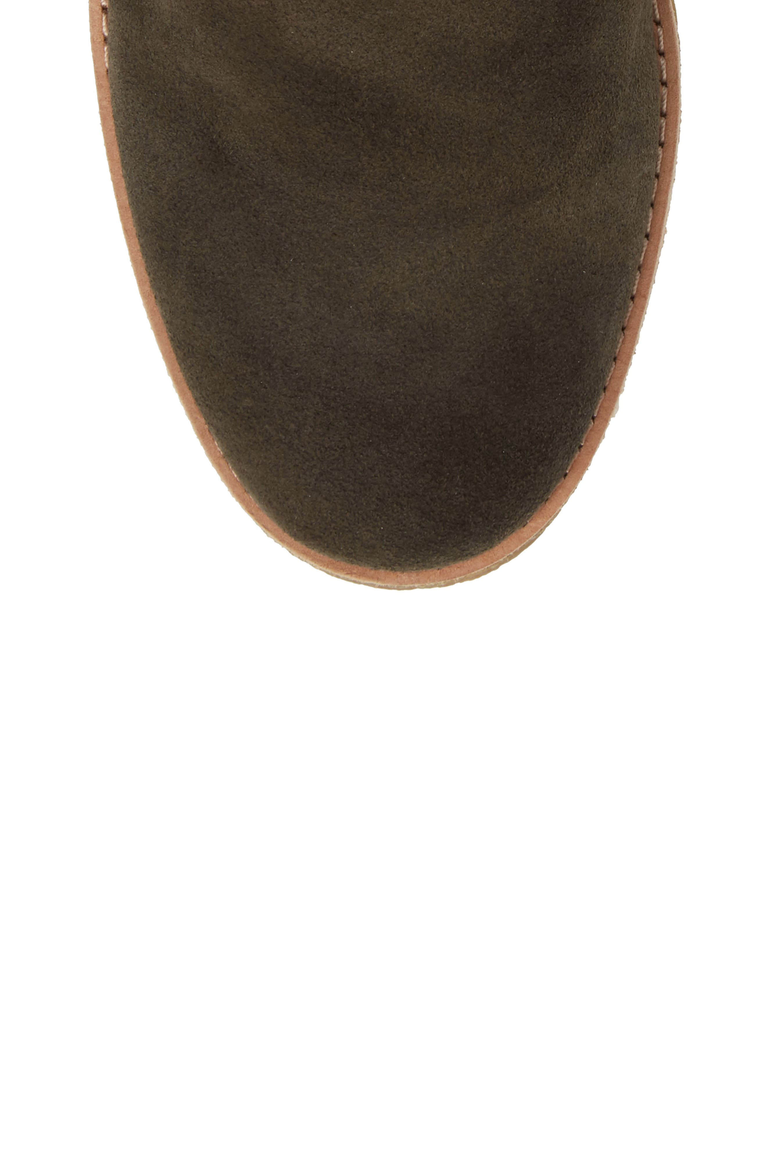 barrow chukka boot,                             Alternate thumbnail 5, color,                             Olive Green Suede