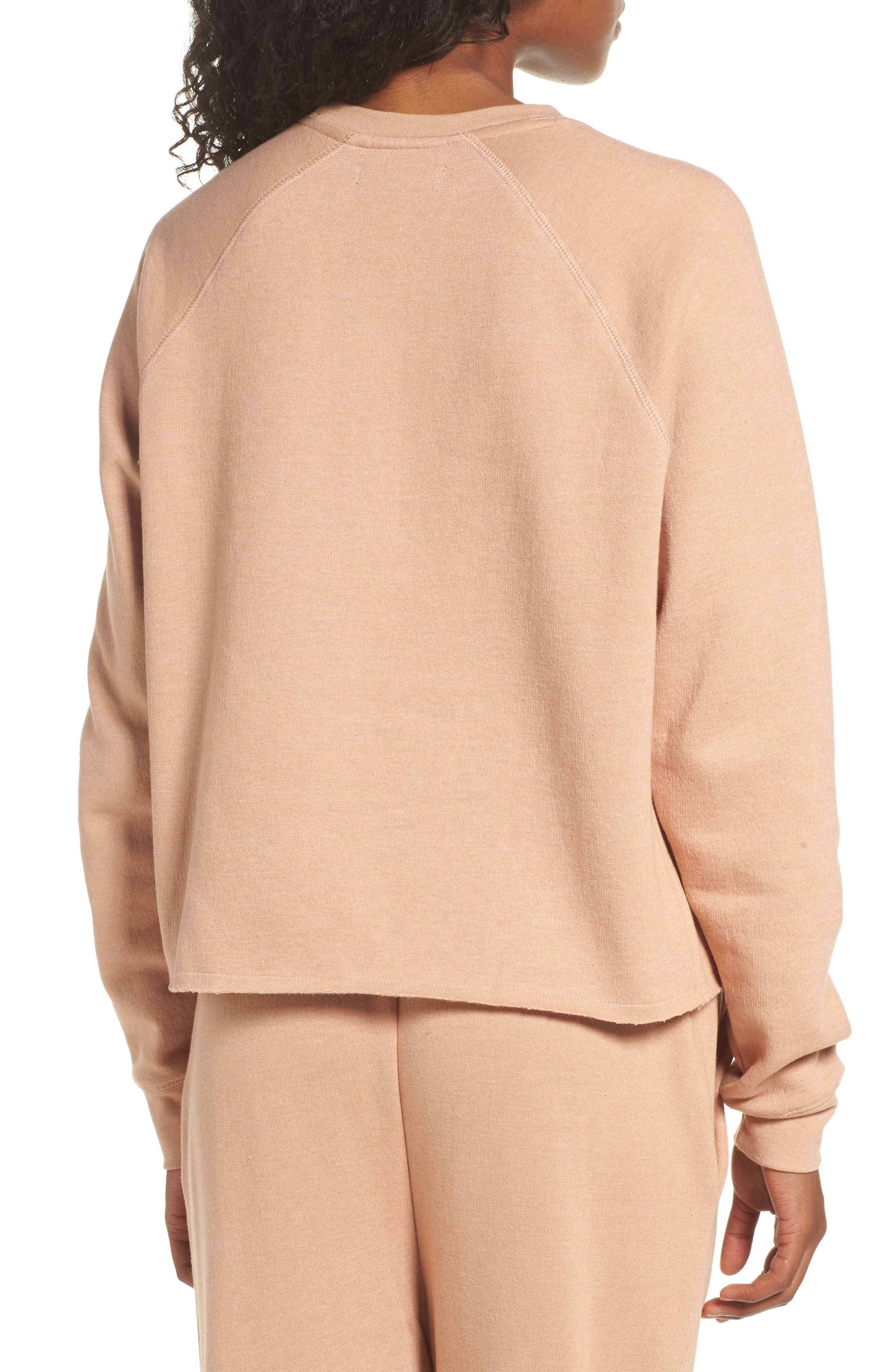 Middle Sister Brunette Sweatshirt,                             Alternate thumbnail 2, color,                             Rose