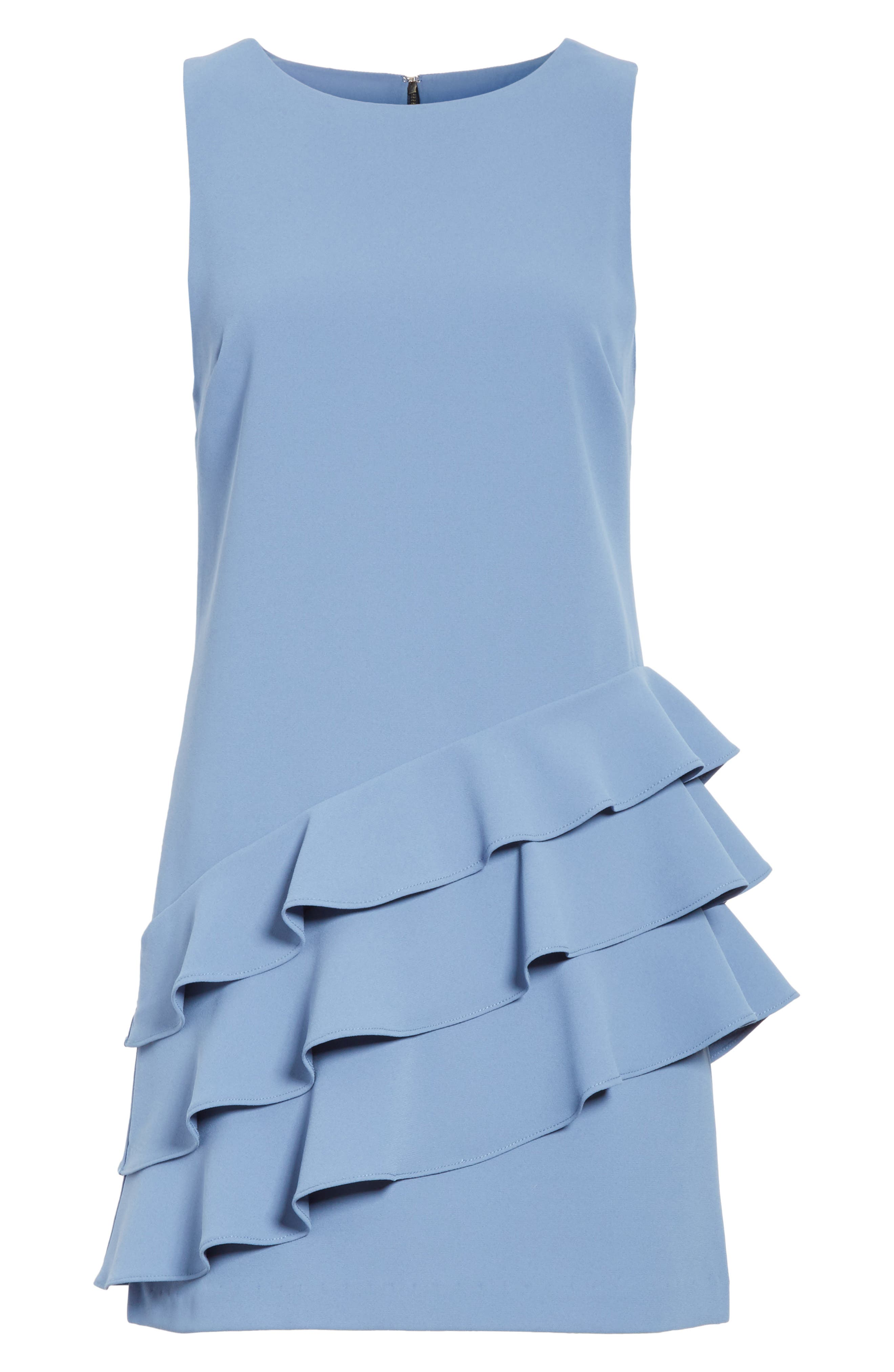 Alternate Image 6  - Alice + Olivia Clive Asymmetrical Ruffle A-Line Dress