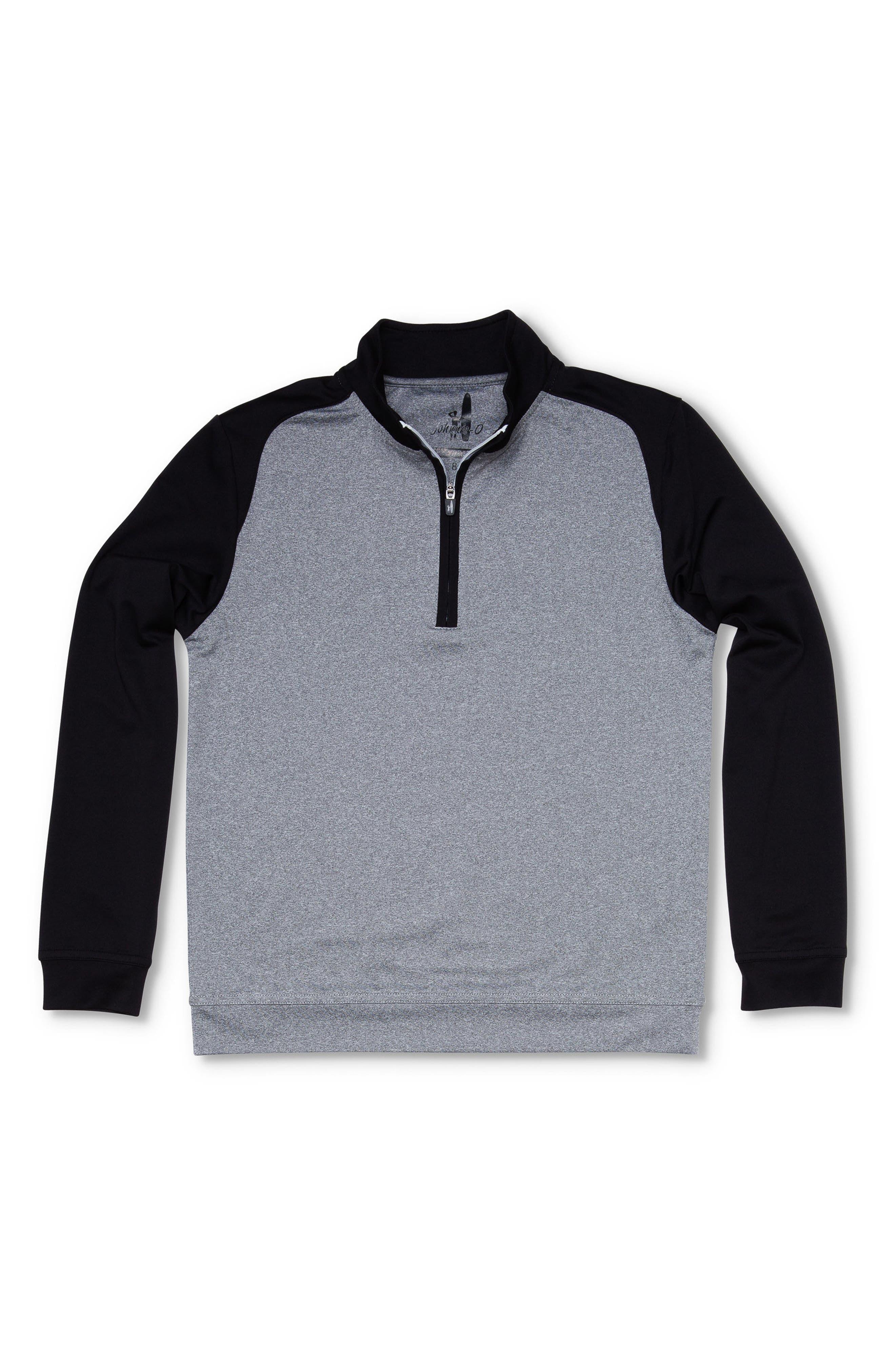 Sway Quarter Zip Pullover,                         Main,                         color, Grey/ Black