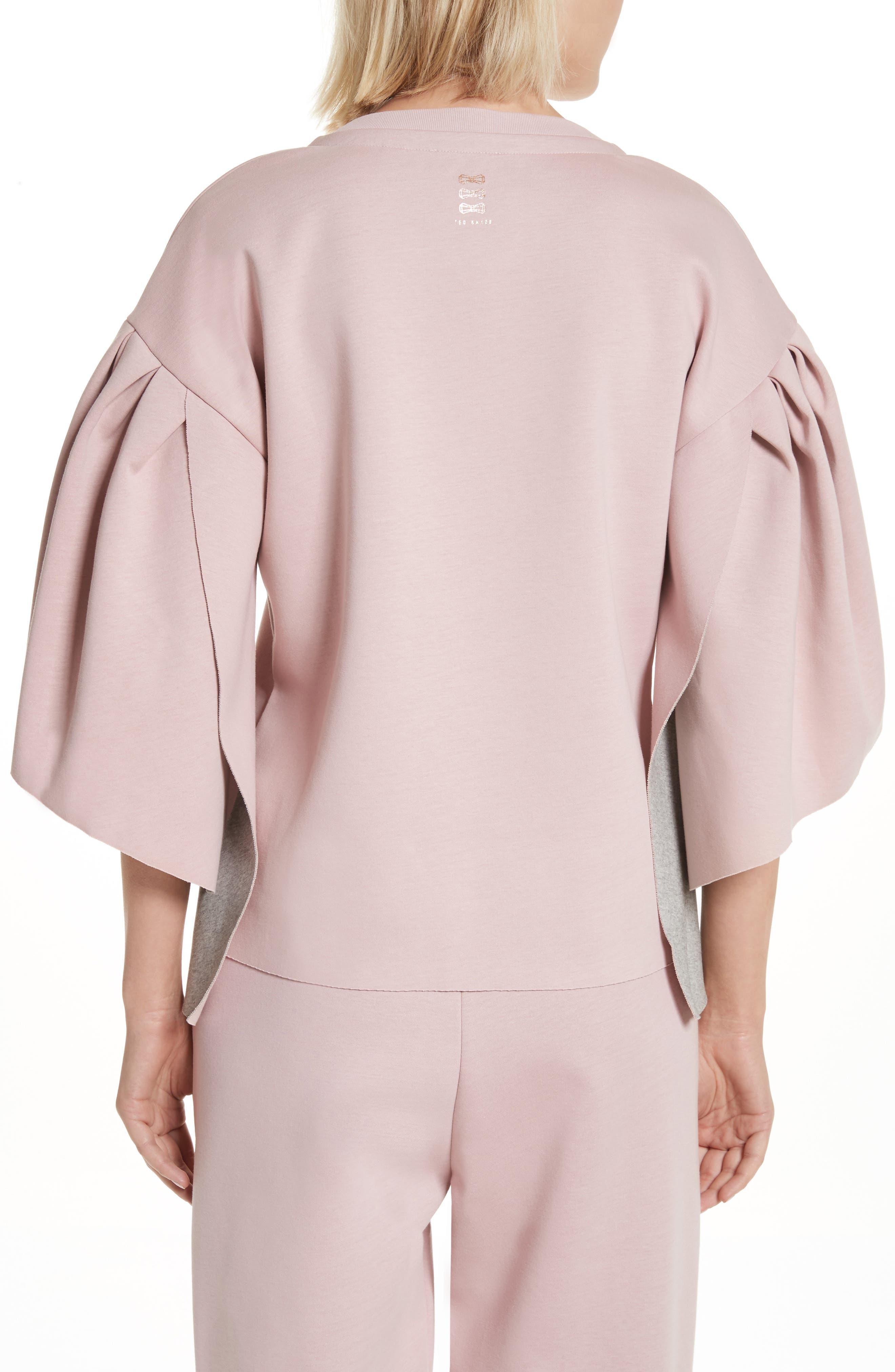 Orcher Full Sleeve Sweatshirt,                             Alternate thumbnail 2, color,                             Dusky Pink